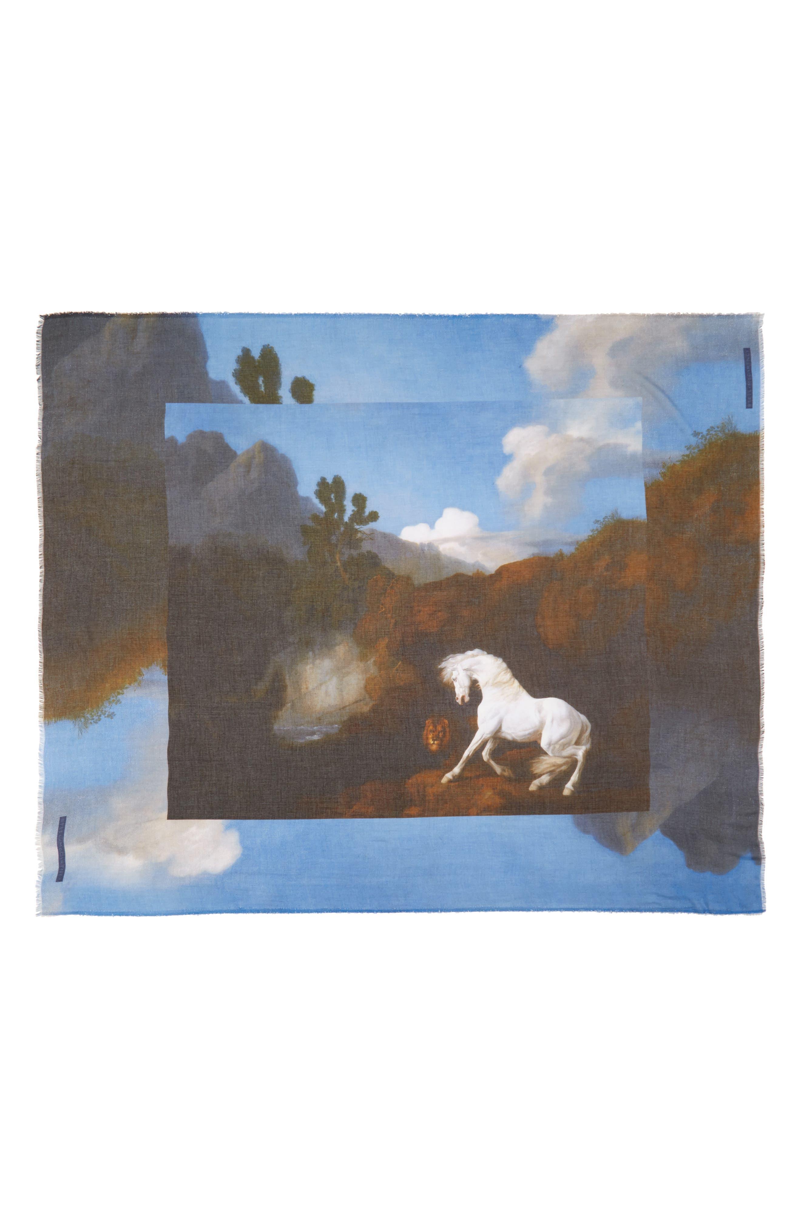 Stella McCartney Stubbs Horse Printed Scarf
