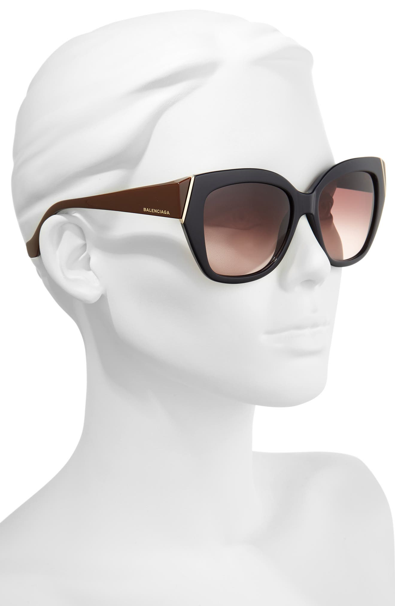 Alternate Image 2  - Balenciaga 57mm Cat Eye Sunglasses