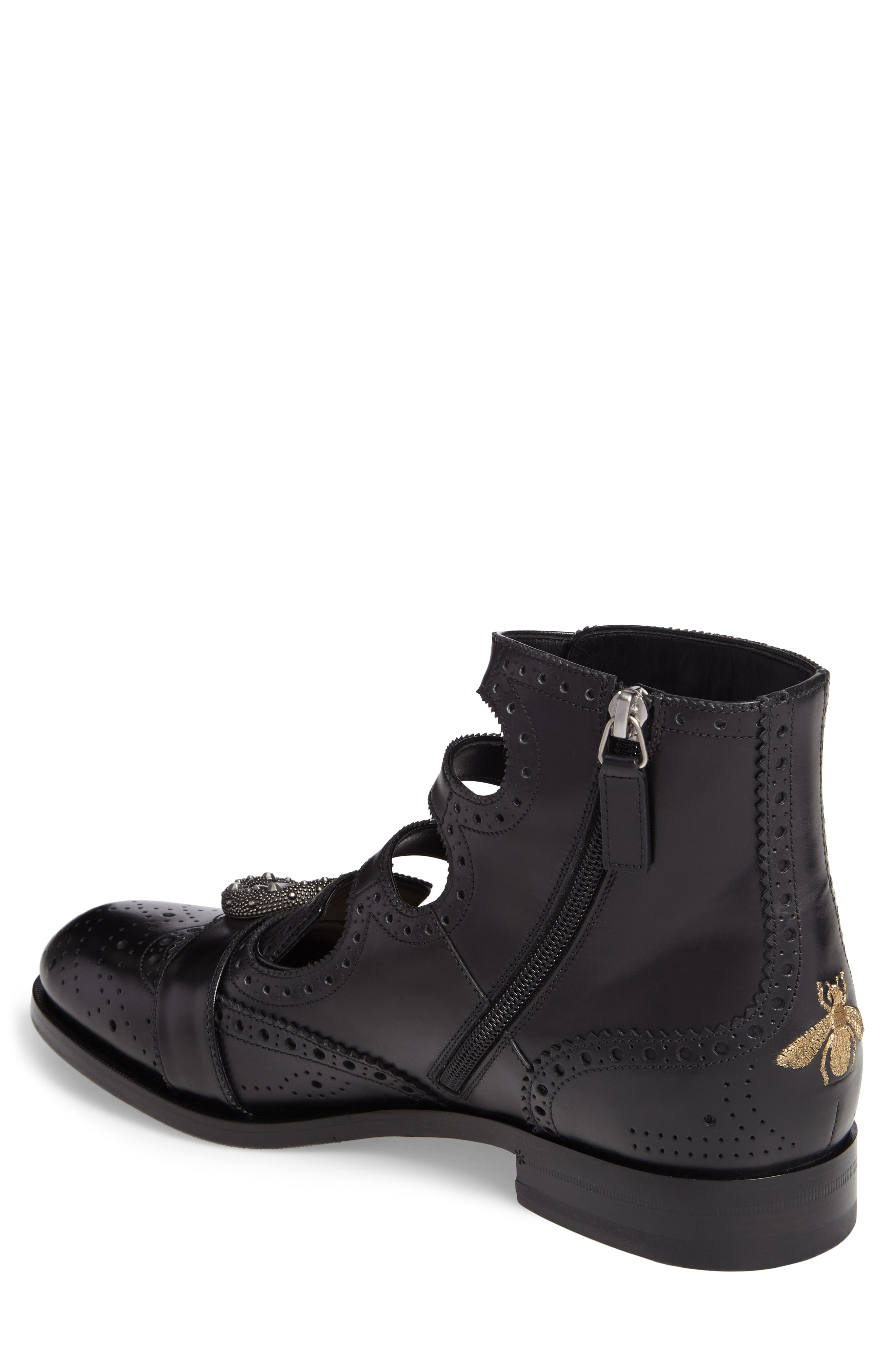 Queercore Boot,                             Alternate thumbnail 2, color,                             Nero Leather