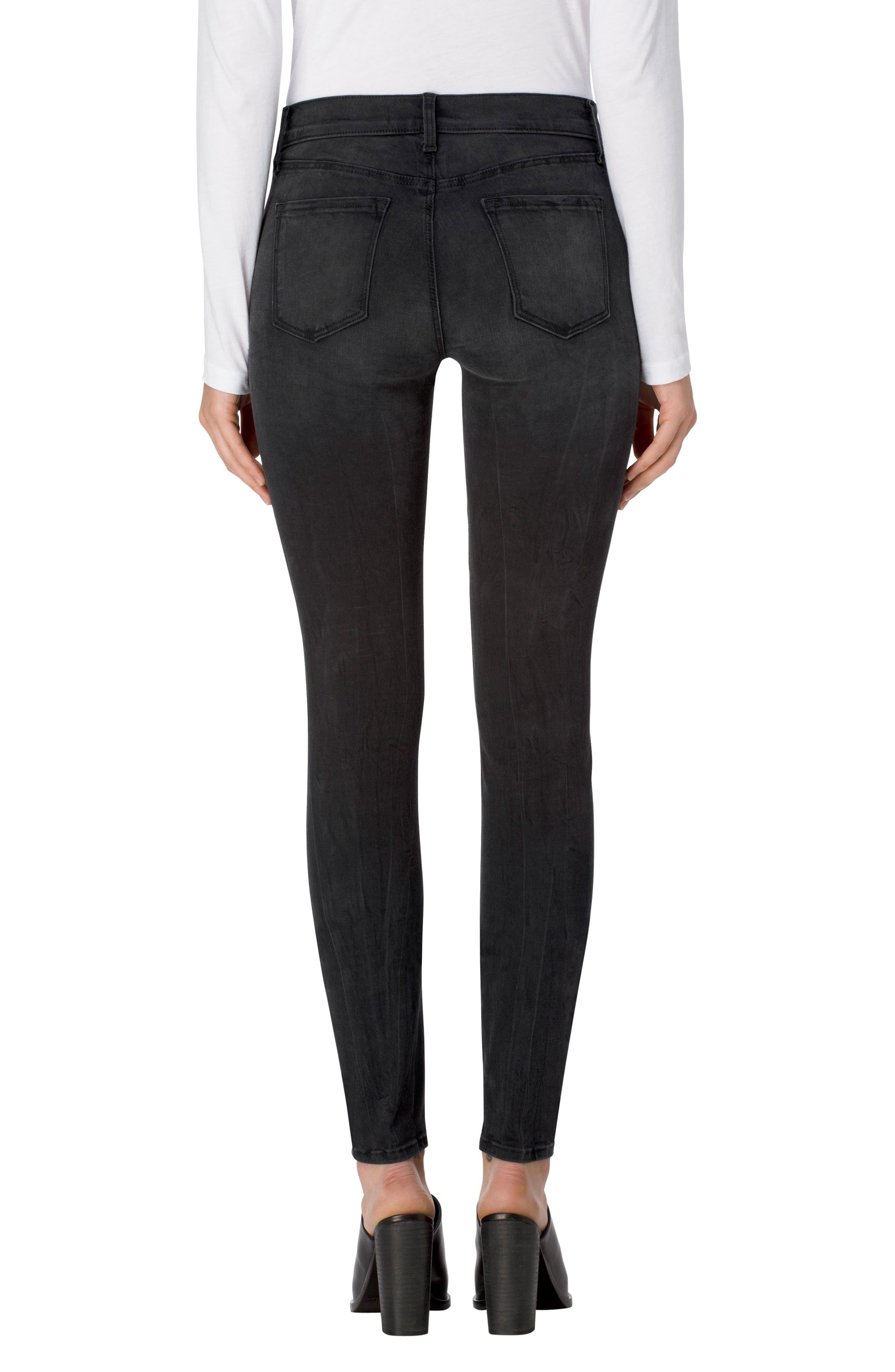 Alternate Image 2  - J Brand 620 Mid Rise Super Skinny Jeans (Dark Sanctify)