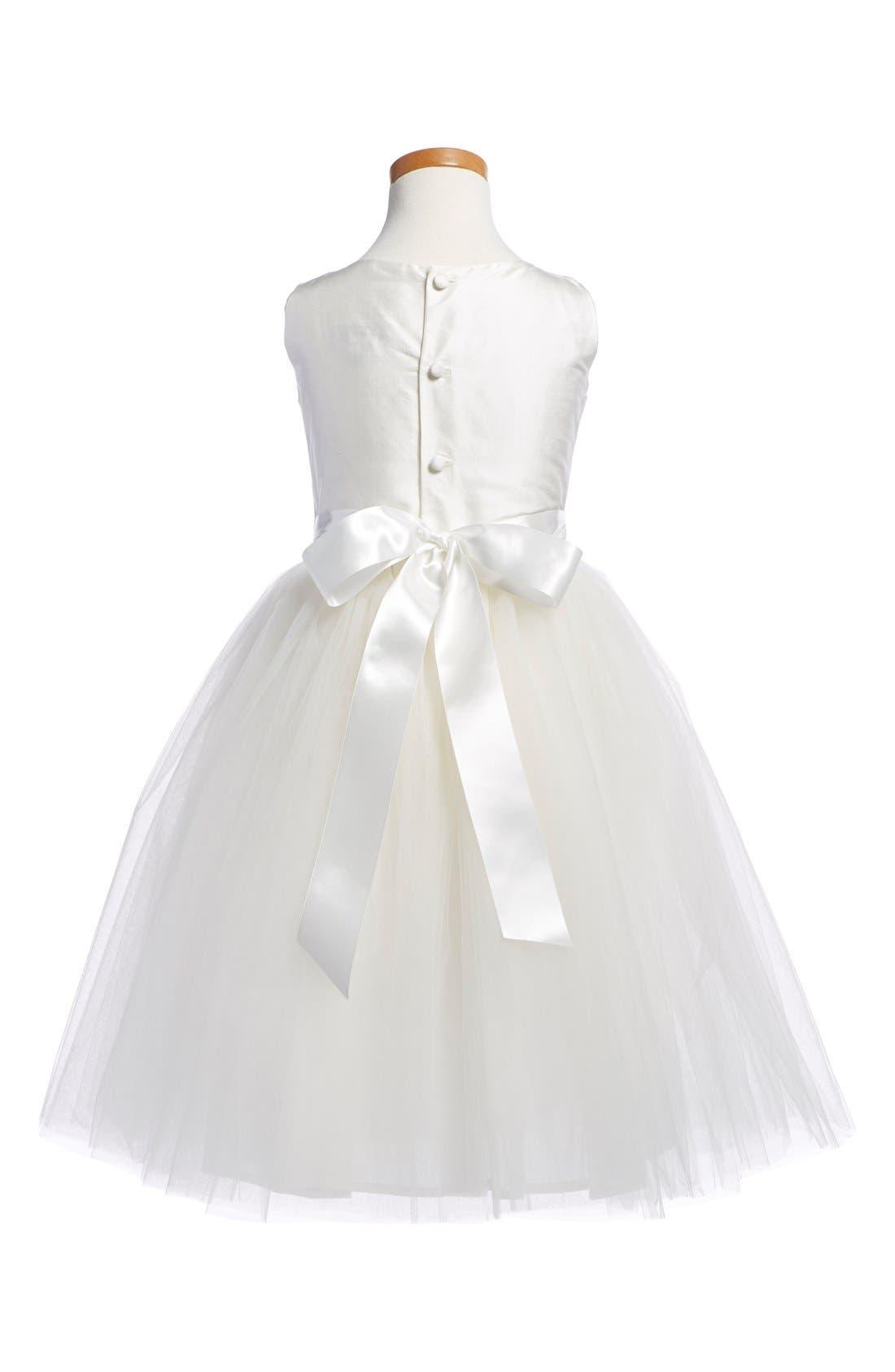 'Enchanting' Sleeveless Taffeta Dress,                             Alternate thumbnail 2, color,                             Ivory
