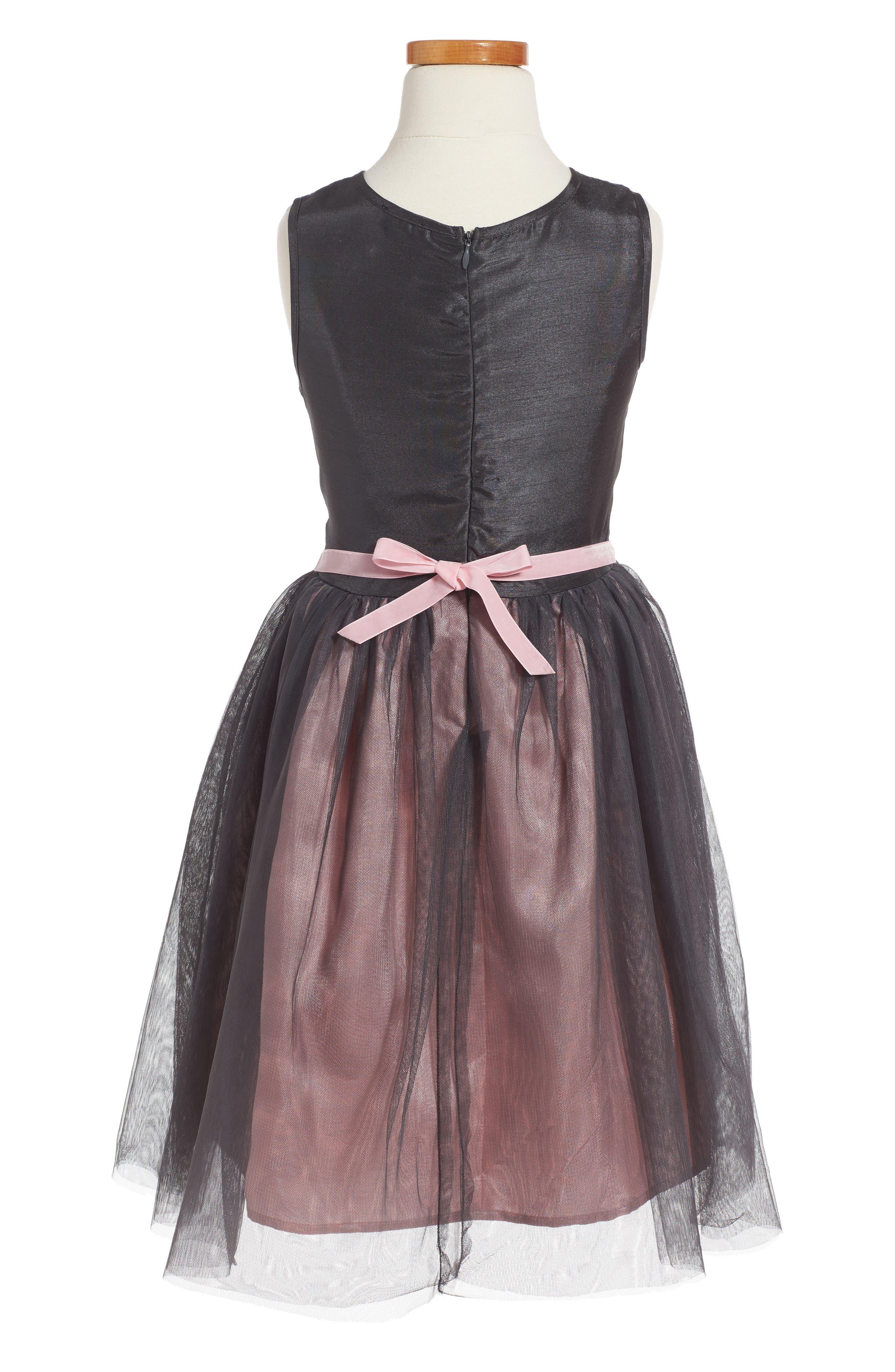 Alternate Image 2  - Zunie Embroidered Fit & Flare Dress (Toddler Girls, Little Girls & Big Girls)