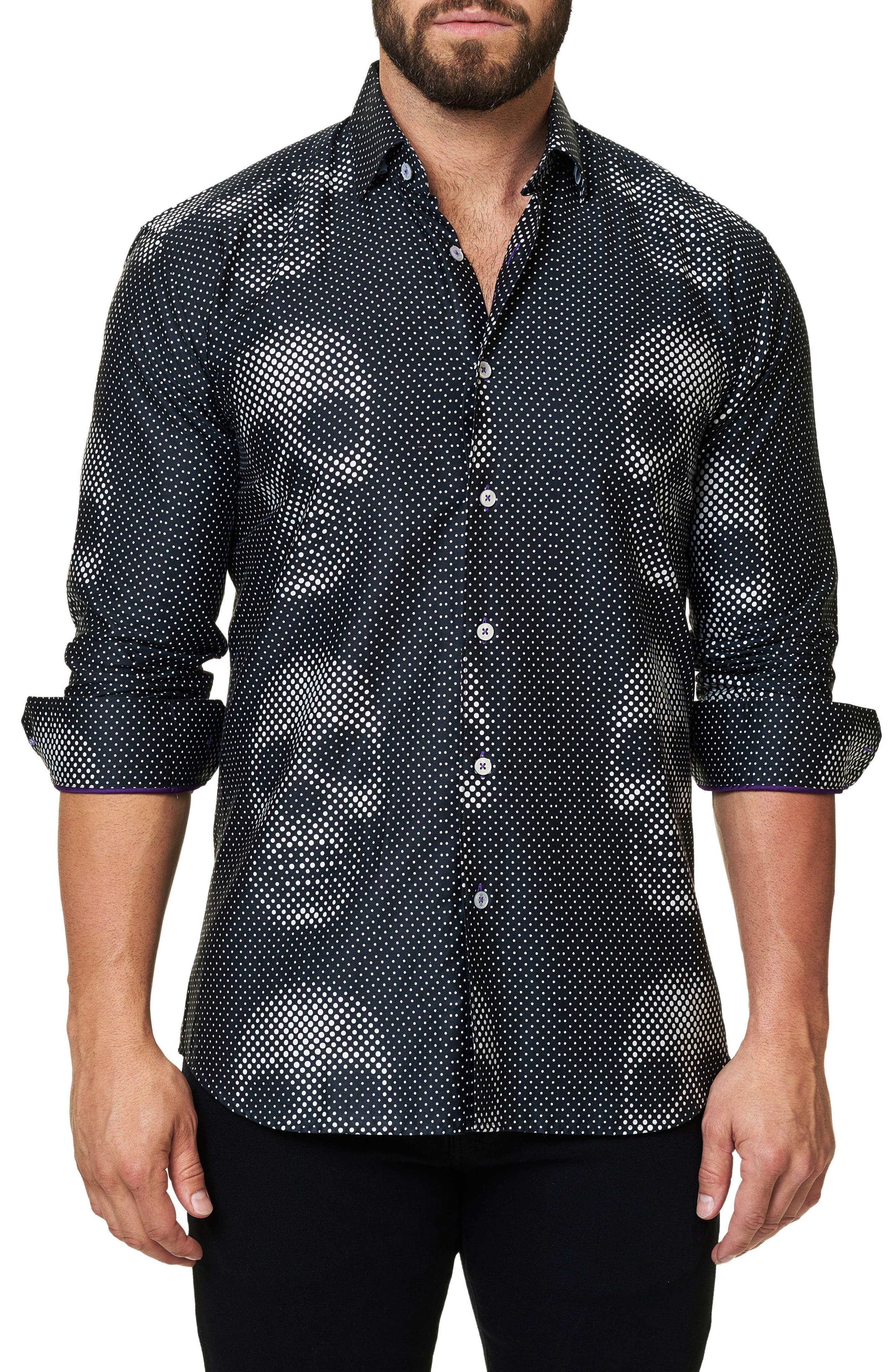 Maceoo Luxor Funky Skull Slim Fit Sport Shirt