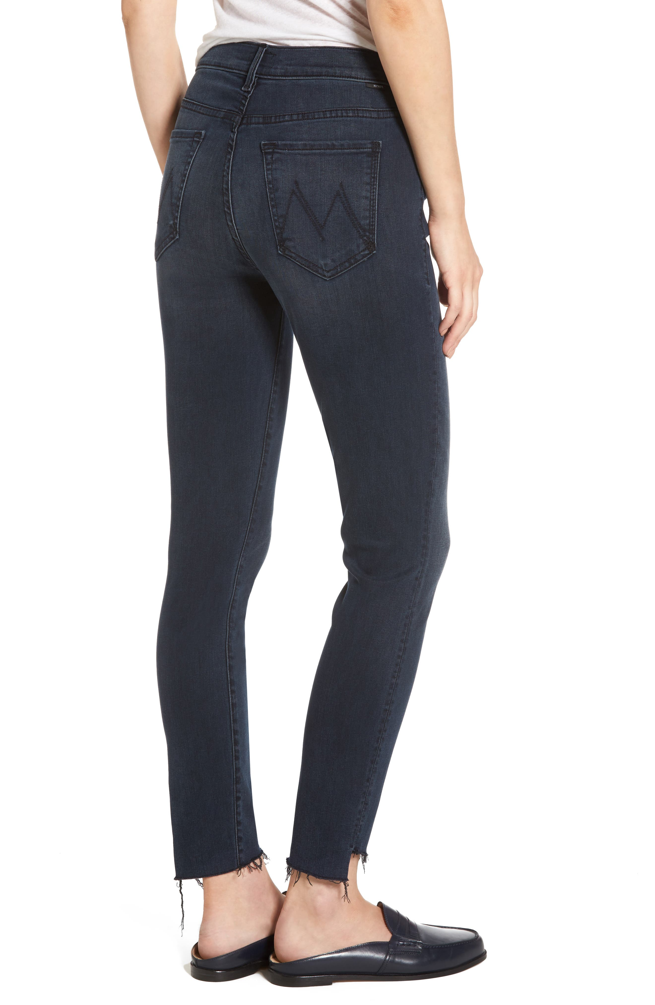 The Stunner High Waist Frayed Step Hem Jeans,                             Alternate thumbnail 2, color,                             My Wildest Ride