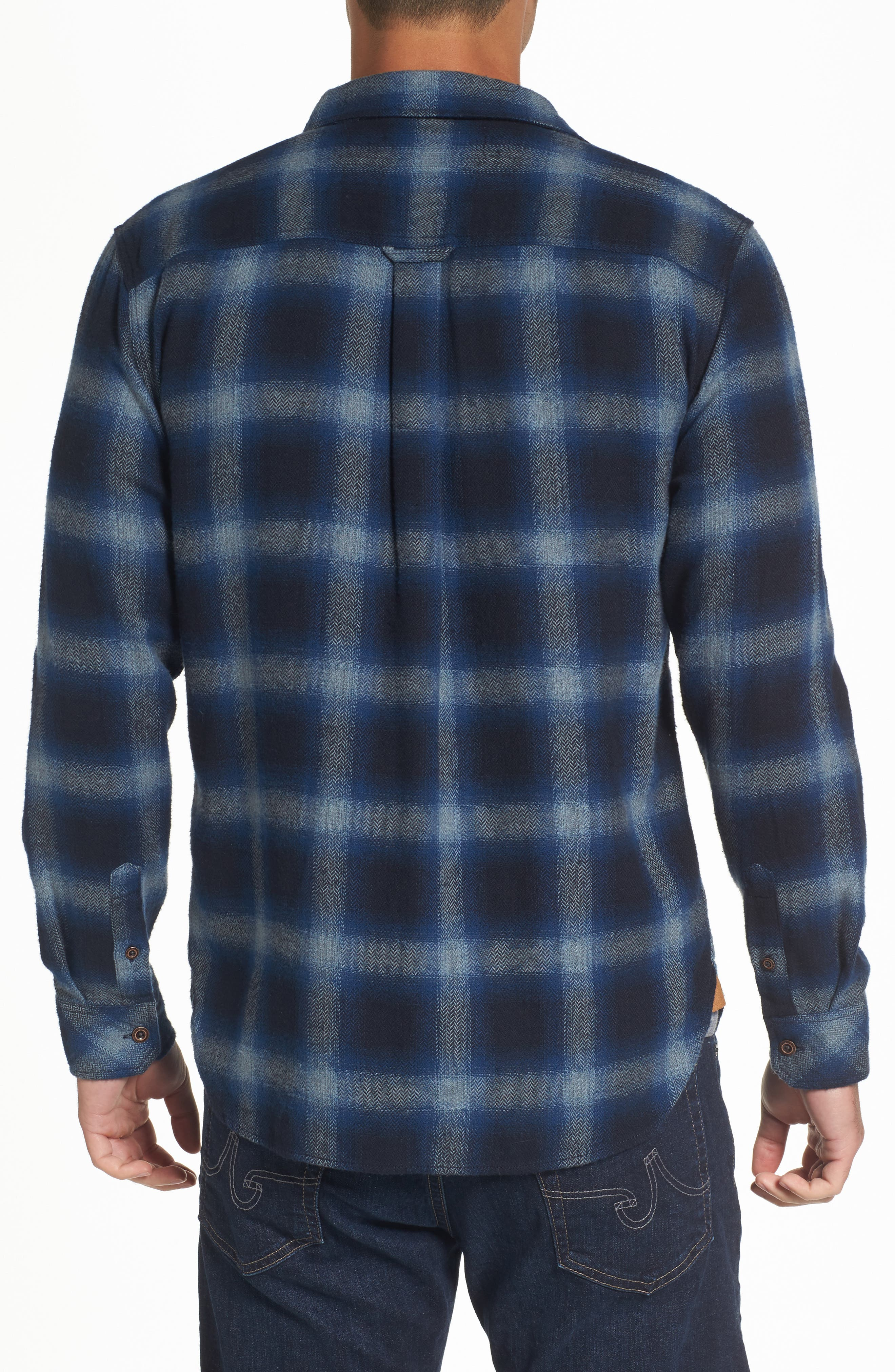 Truman Outdoor Check Sport Shirt,                             Alternate thumbnail 2, color,                             Navy/ Blue
