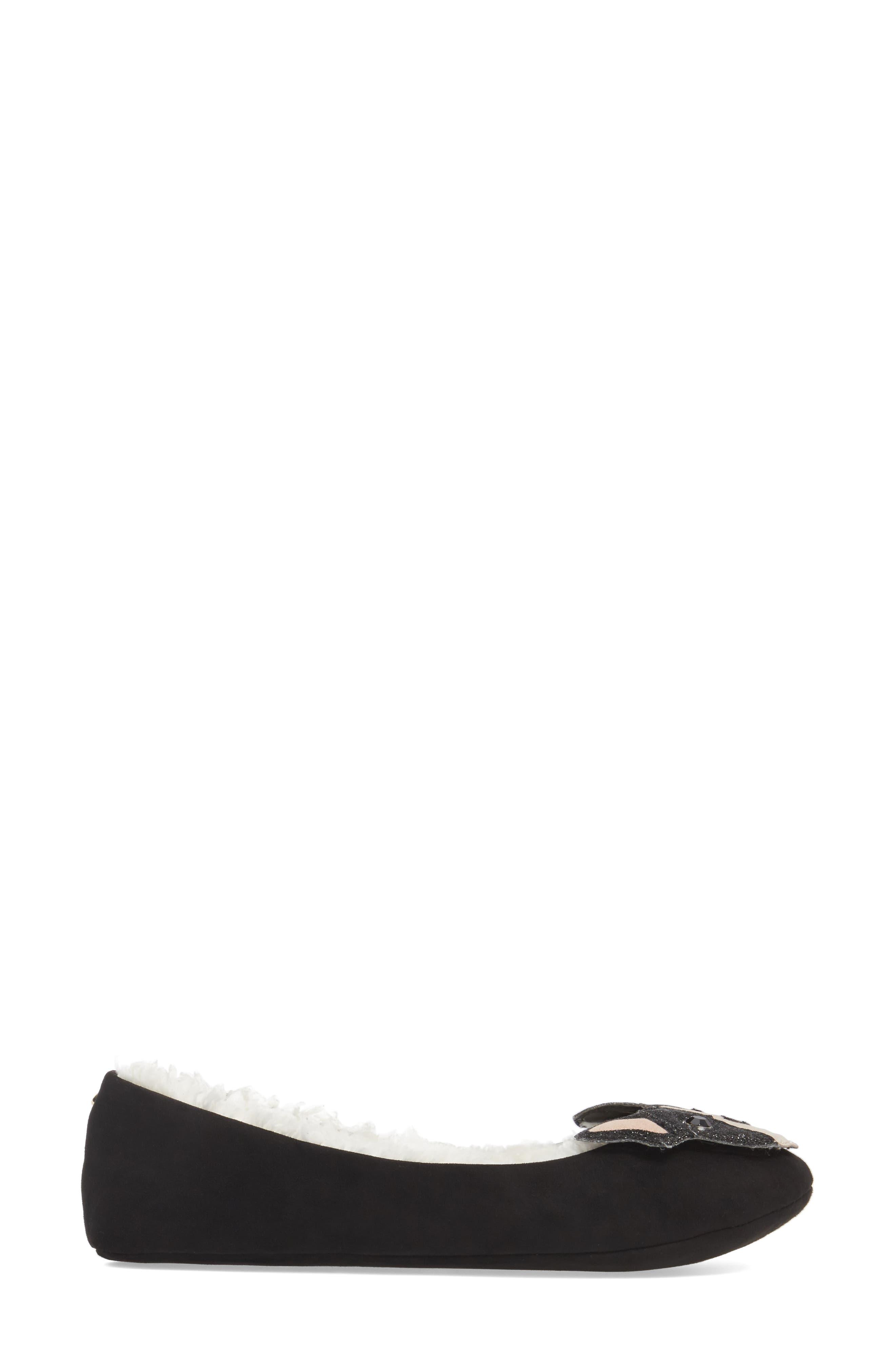 seymour slipper,                             Alternate thumbnail 3, color,                             Black Micro Suede