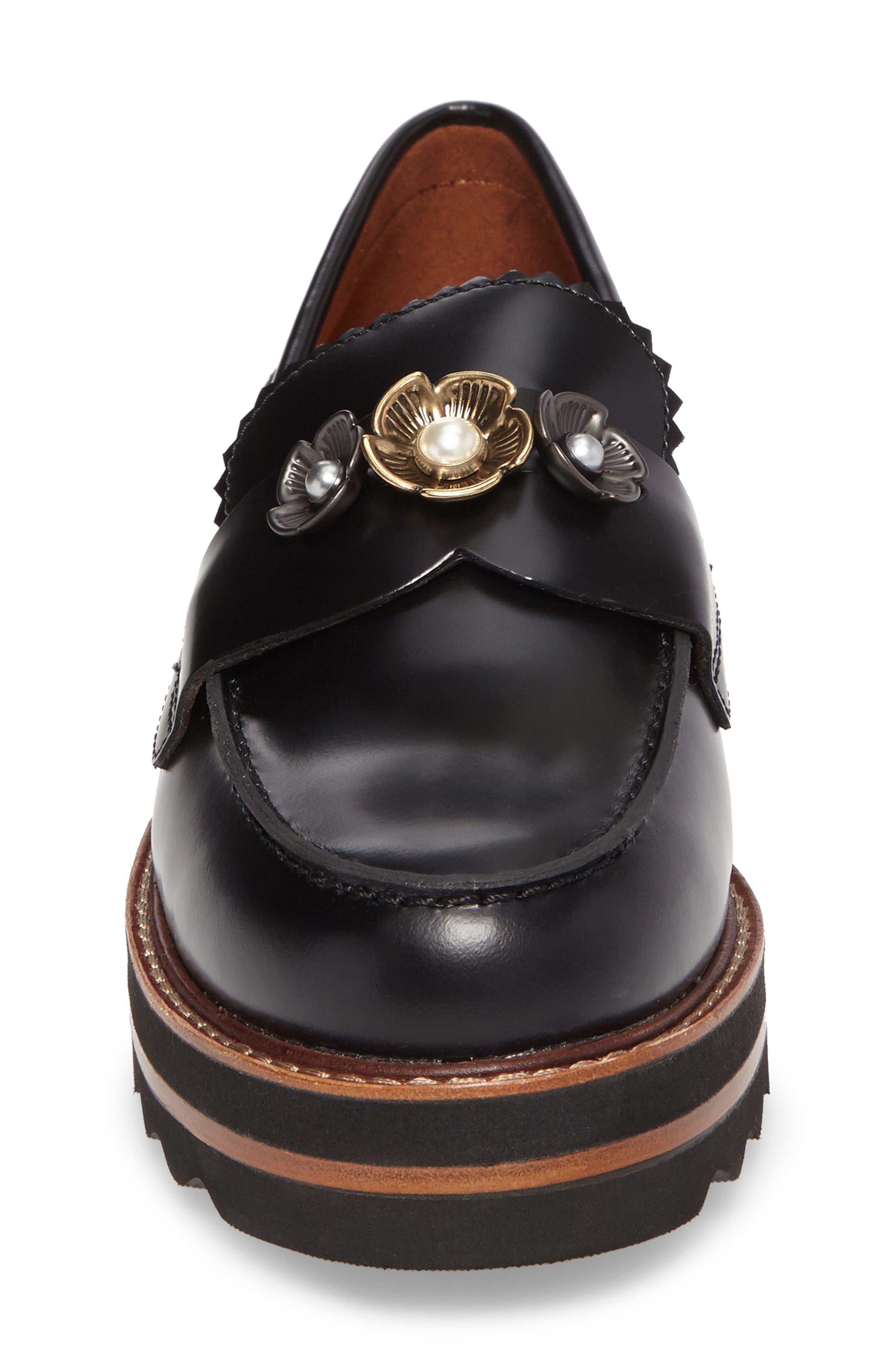 Alternate Image 4  - COACH Lenox Platform Loafer (Women)