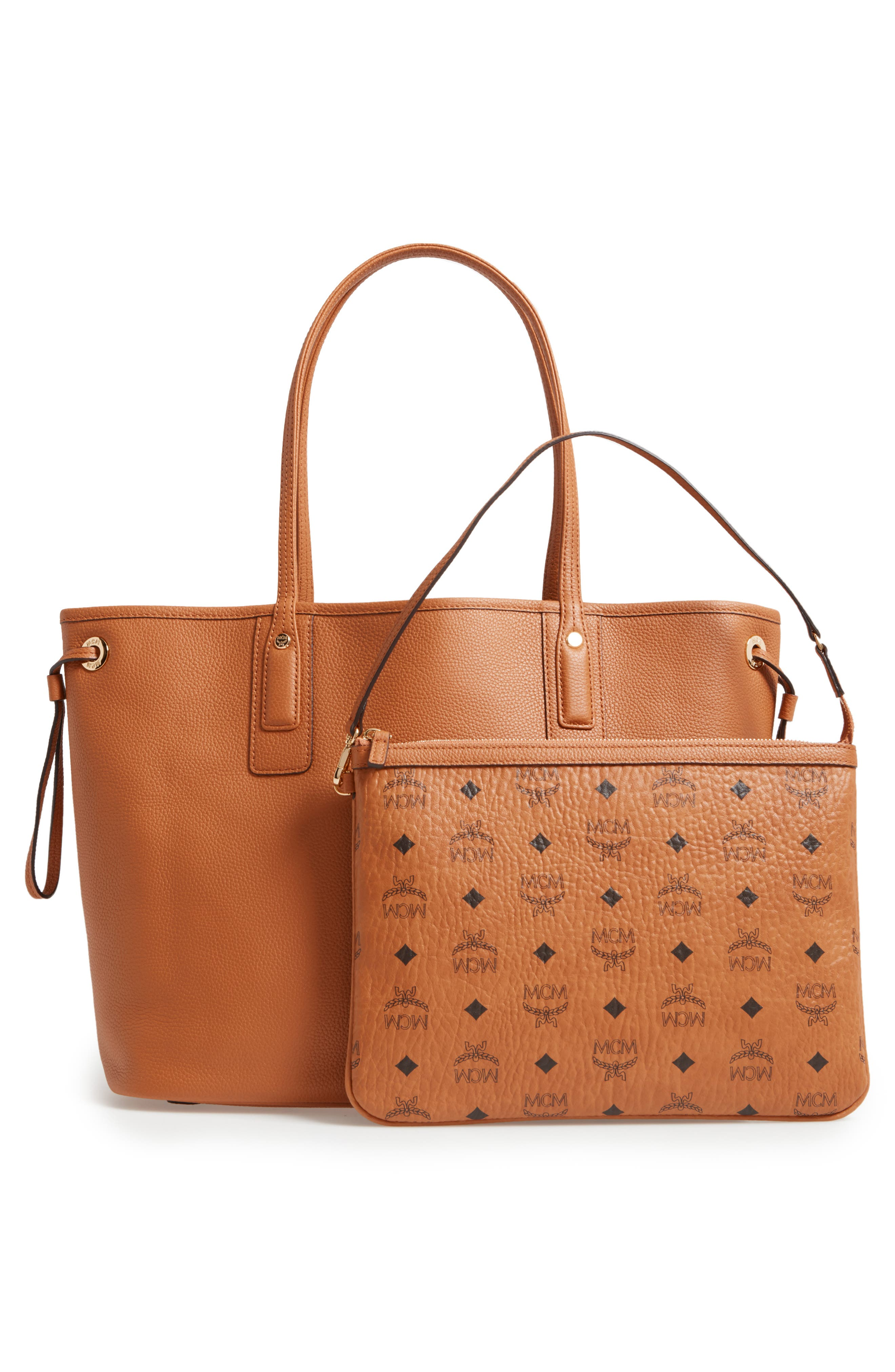 Alternate Image 3  - MCM Medium Liz Reversible Visetos Leather Shopper