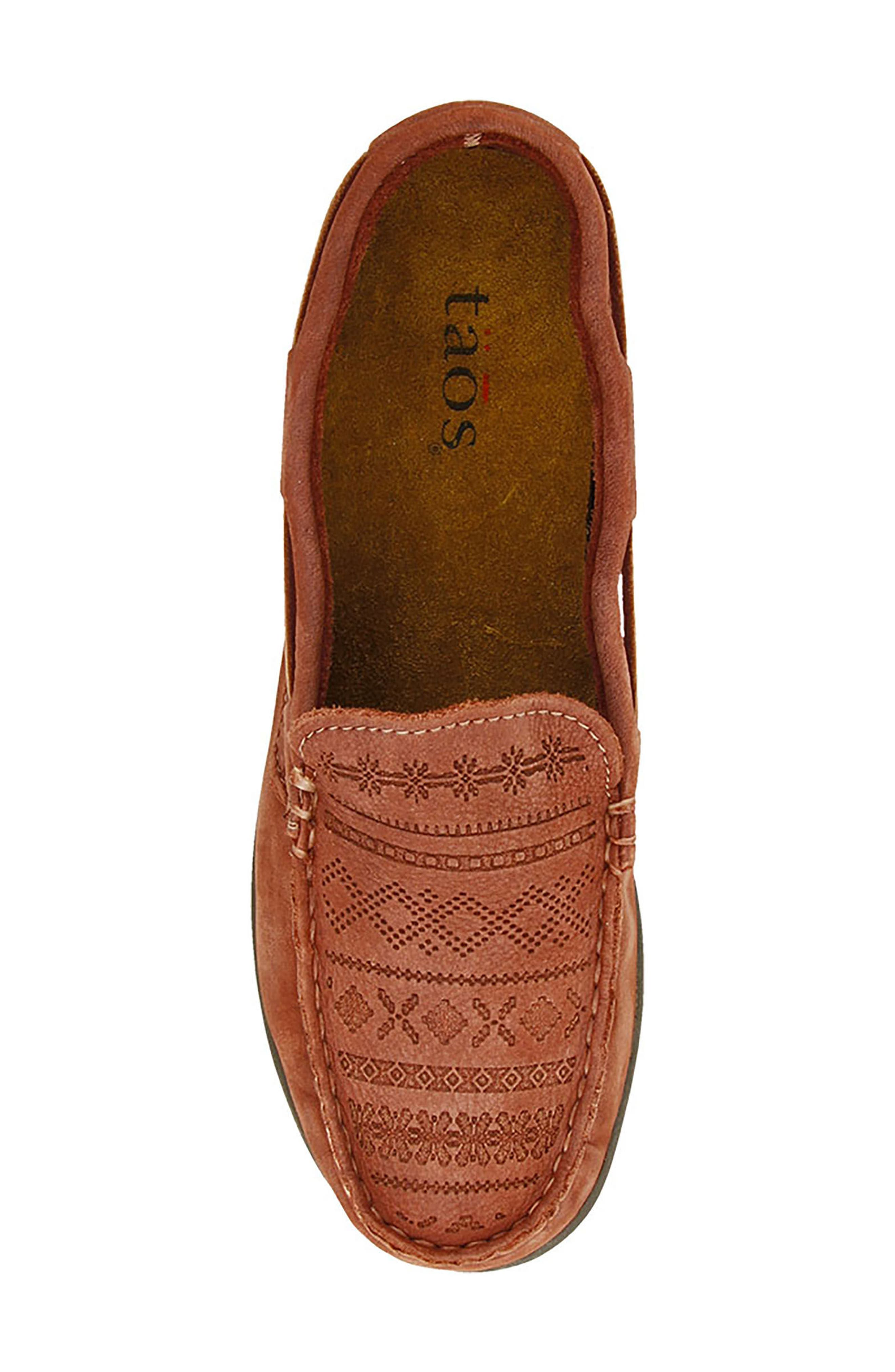 Heritage Moccasin Flat,                             Alternate thumbnail 5, color,                             Spice Red Leather
