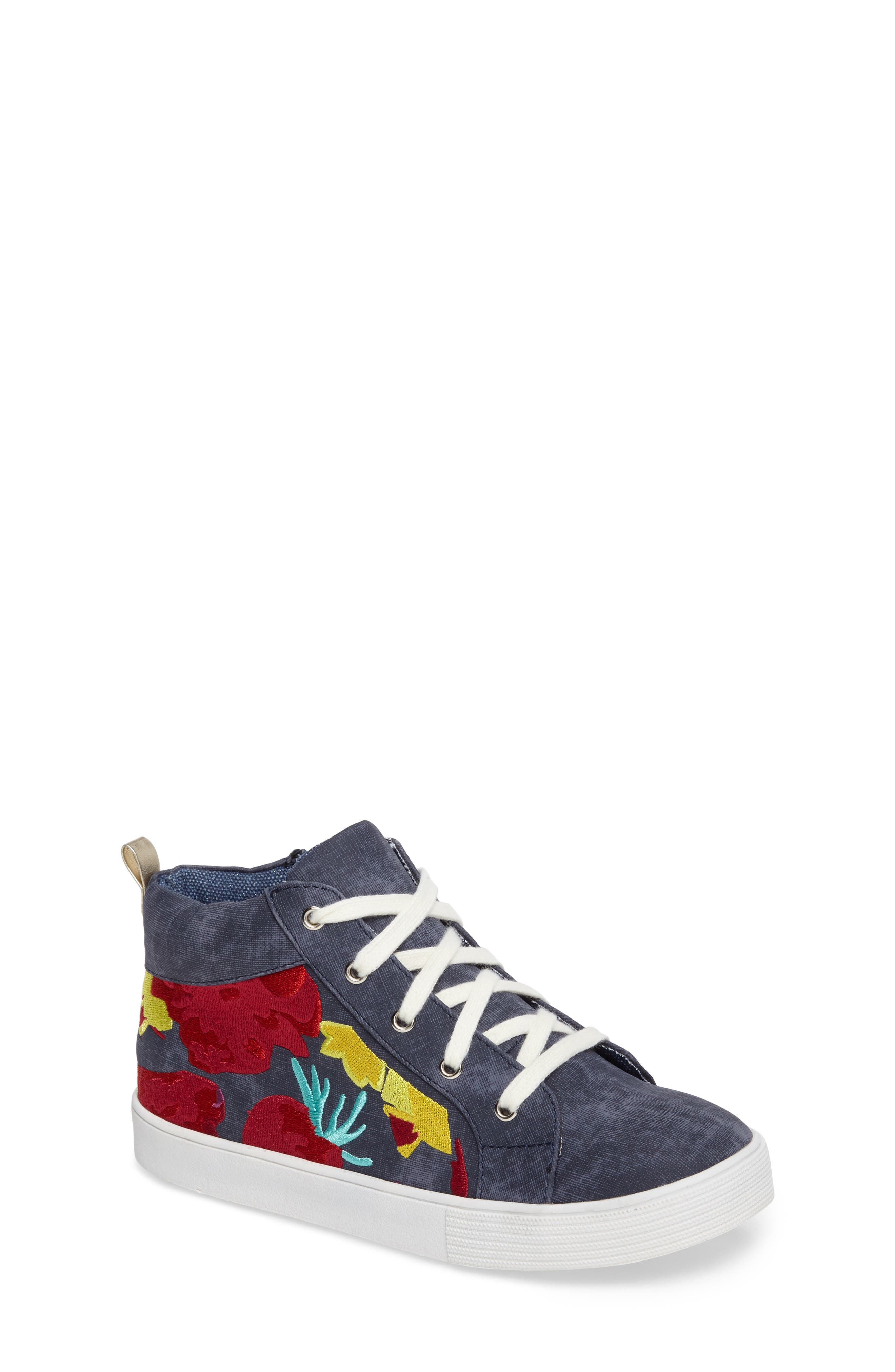 Kenneth Cole New York Kam Embroidered High Top Sneaker (Toddler, Little Kid & Big Kid)