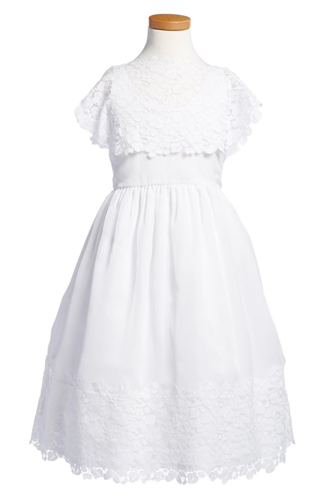 Floral Lace Dress,                         Main,                         color, White