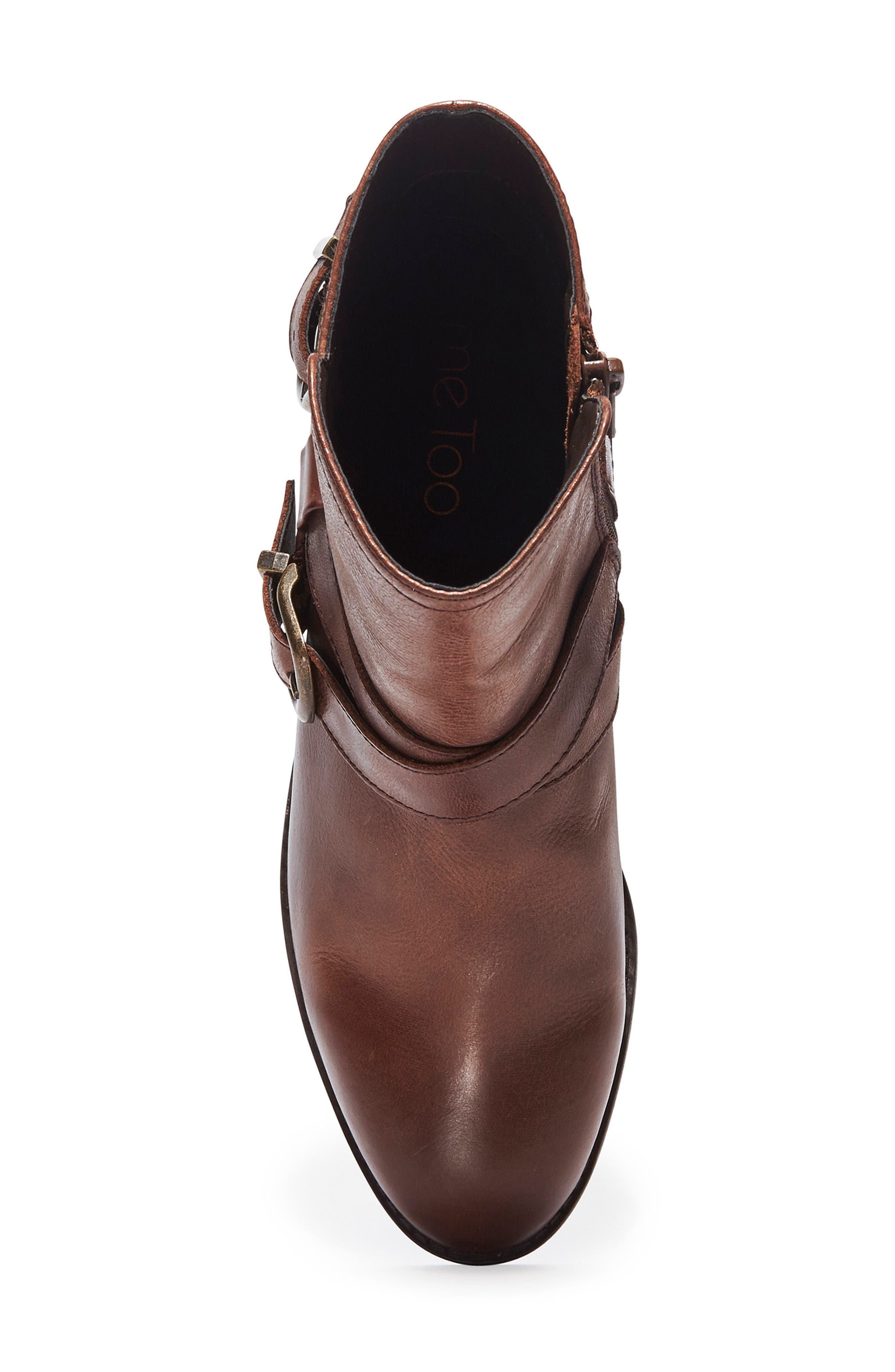 Zuri Buckle Boot,                             Alternate thumbnail 5, color,                             Chocolate Leather