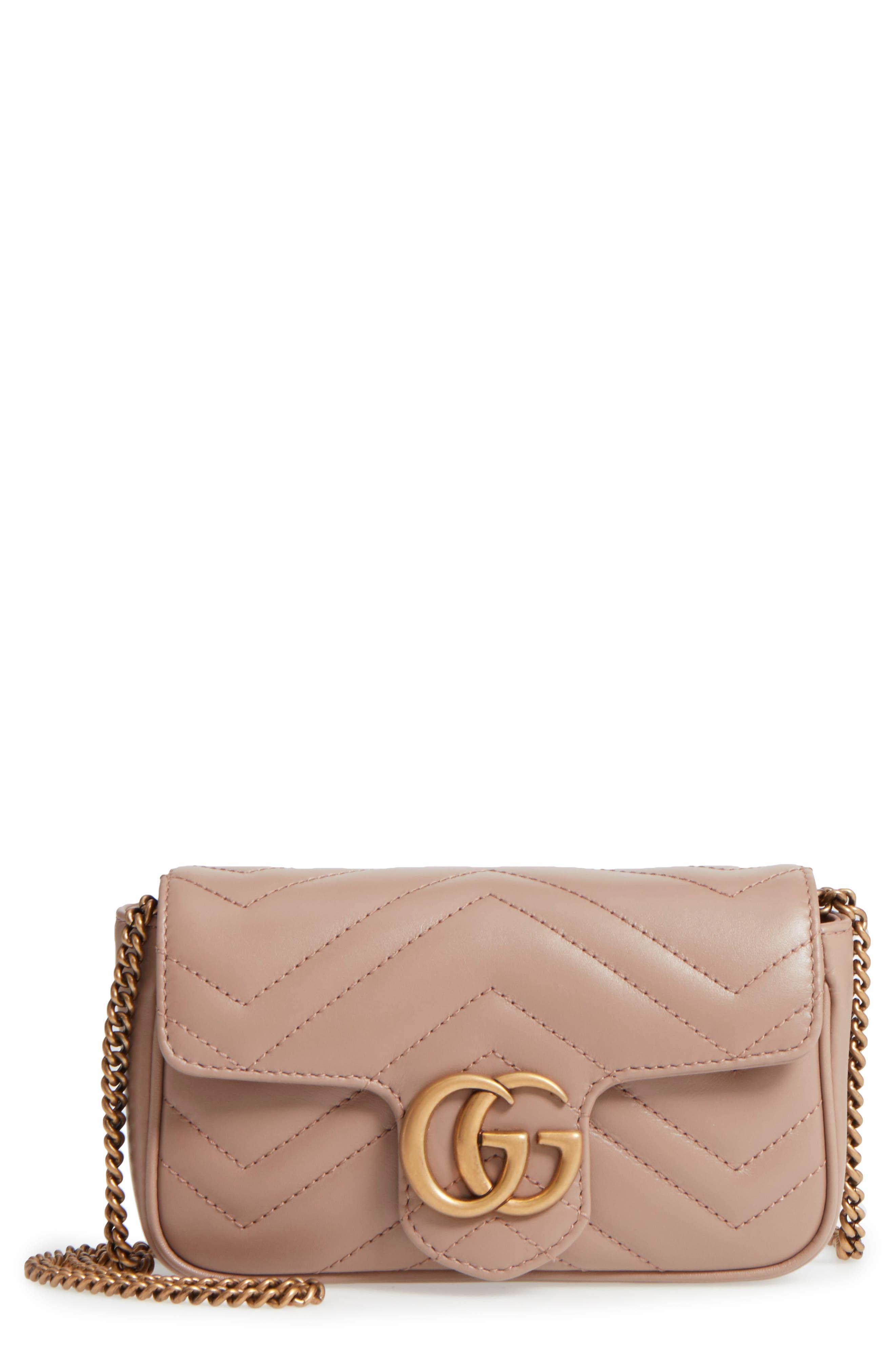 Gucci Supermini GG Marmont 2.0 Matelassé Leather Shoulder Bag
