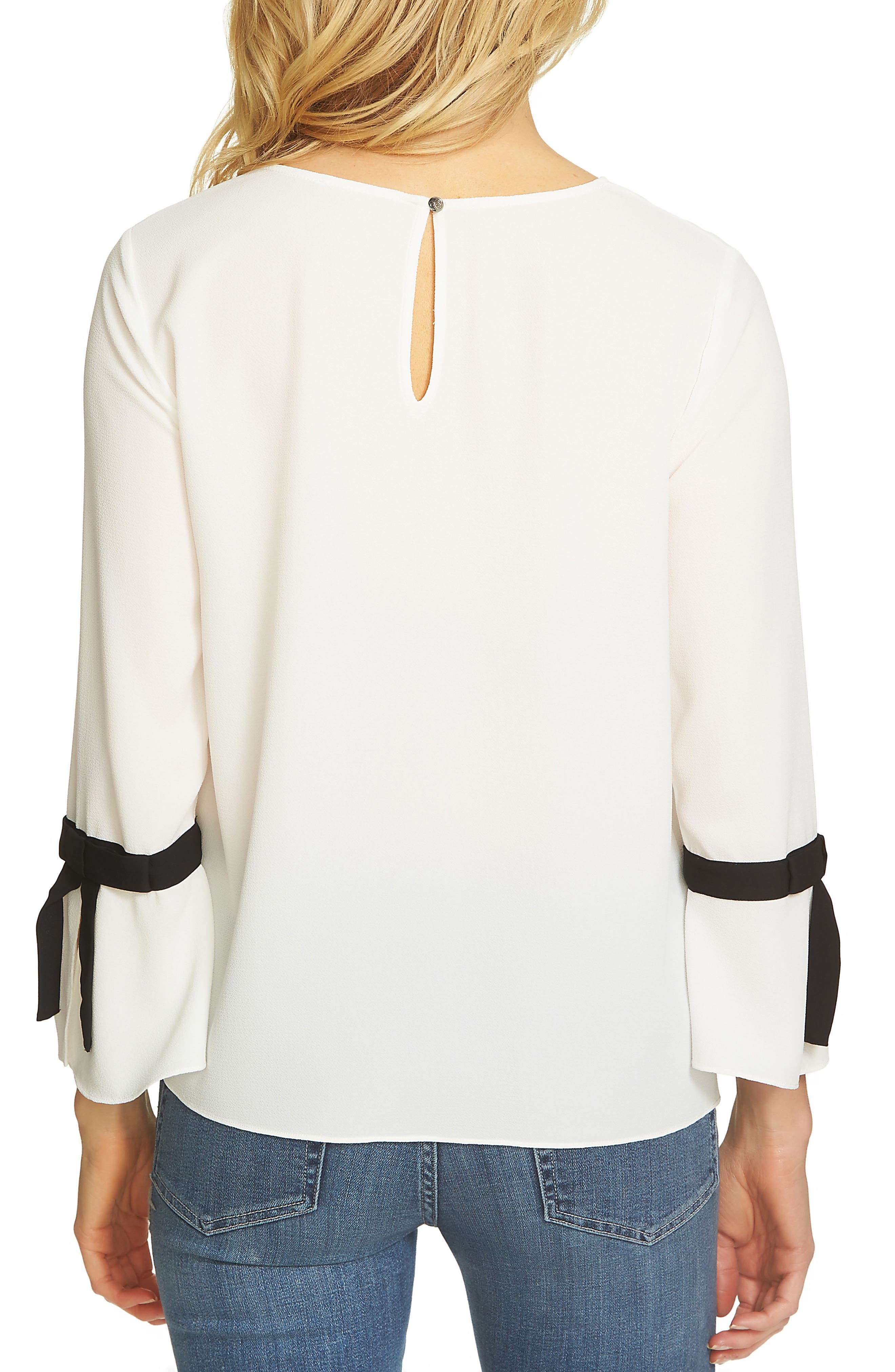 Alternate Image 2  - CeCe Tie Bell Sleeve Blouse