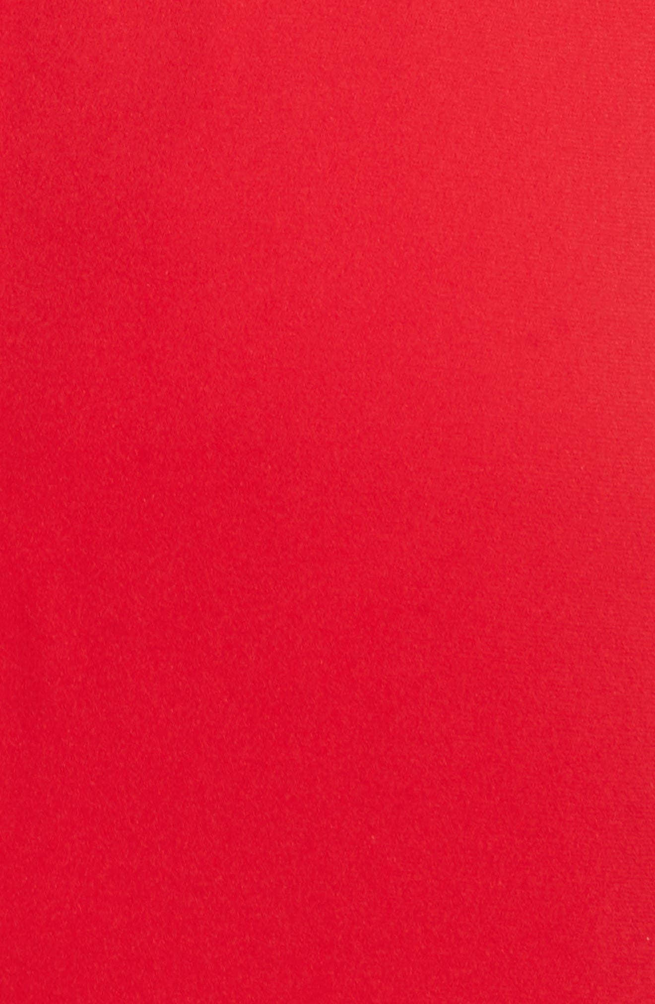 Shana Stretch Silk Bishop Sleeve Dress,                             Alternate thumbnail 5, color,                             Lipstick