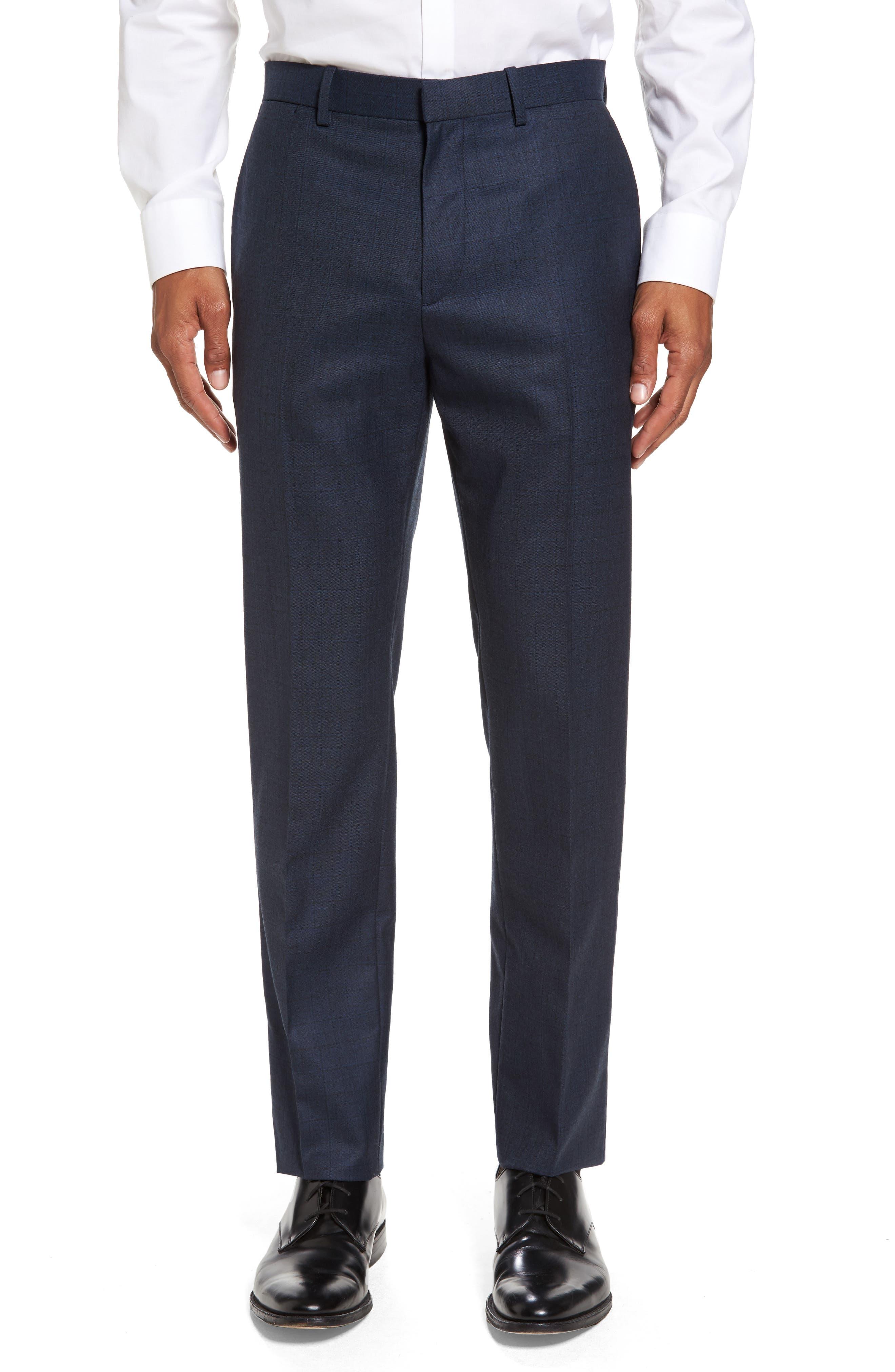 Theory Jake Sharkskin Slim Wool Trousers