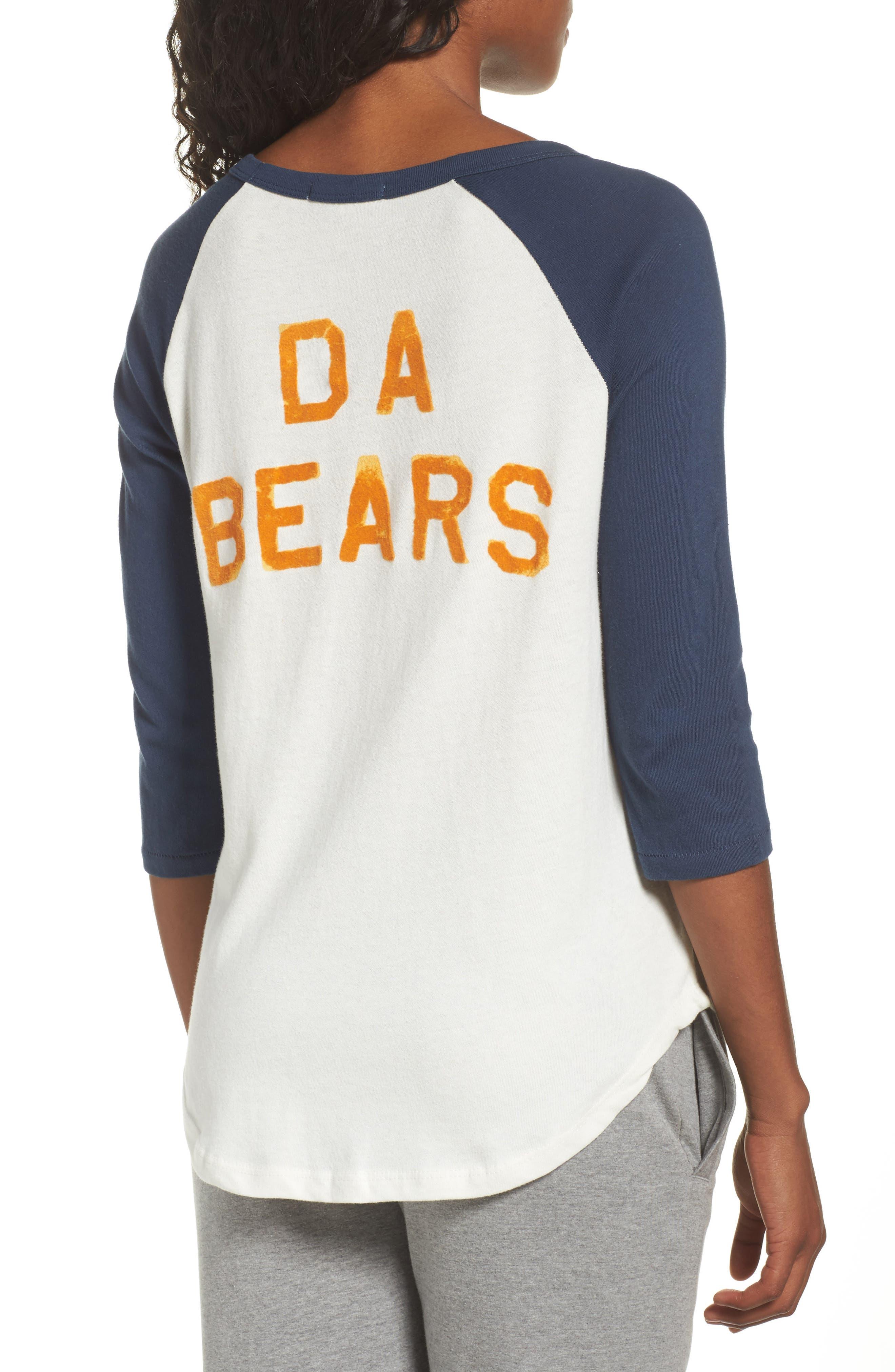 NFL Chicago Bears Raglan Tee,                             Alternate thumbnail 2, color,                             Sugar/ True Navy