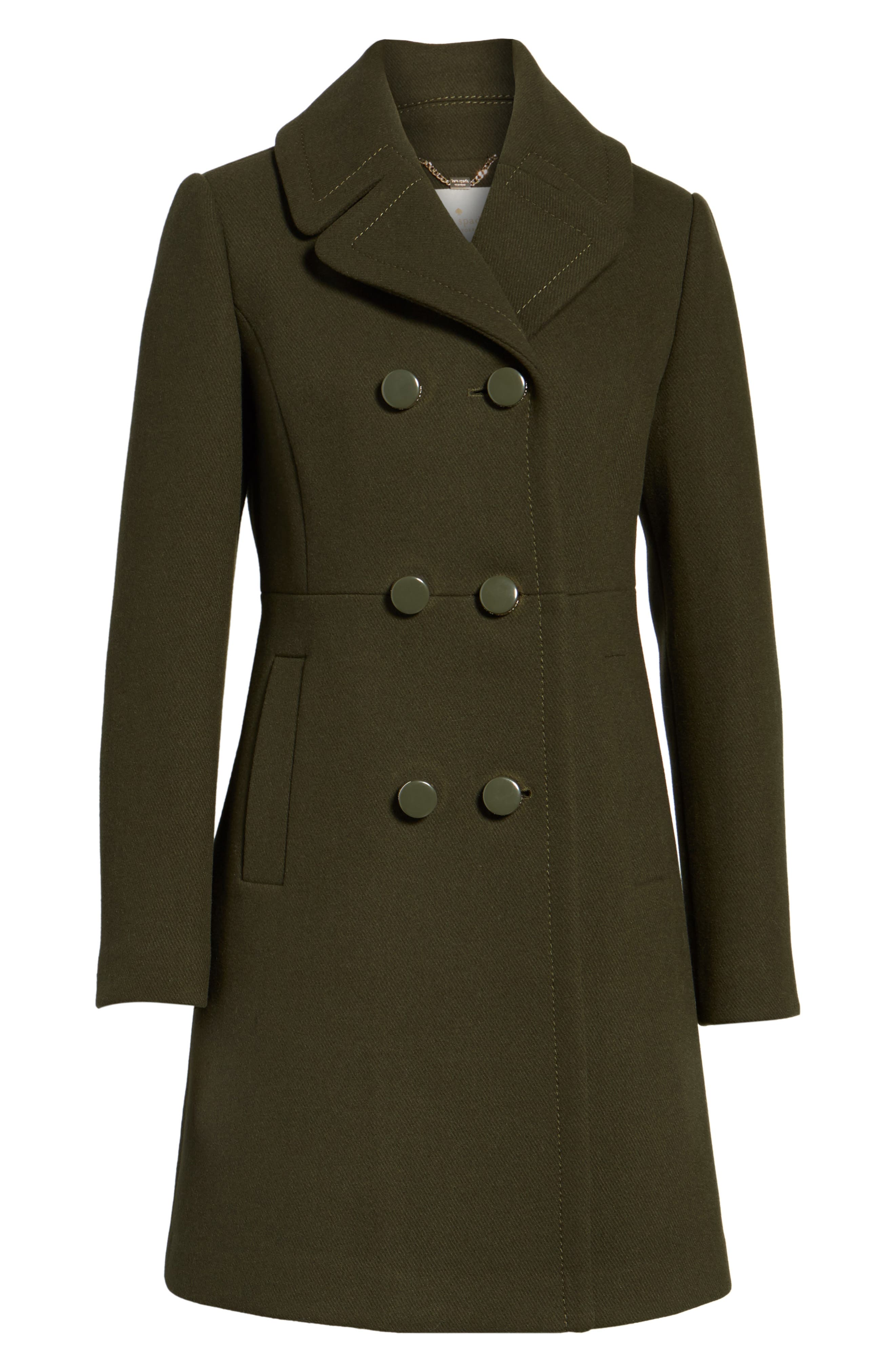 Alternate Image 6  - kate spade new york double breasted coat