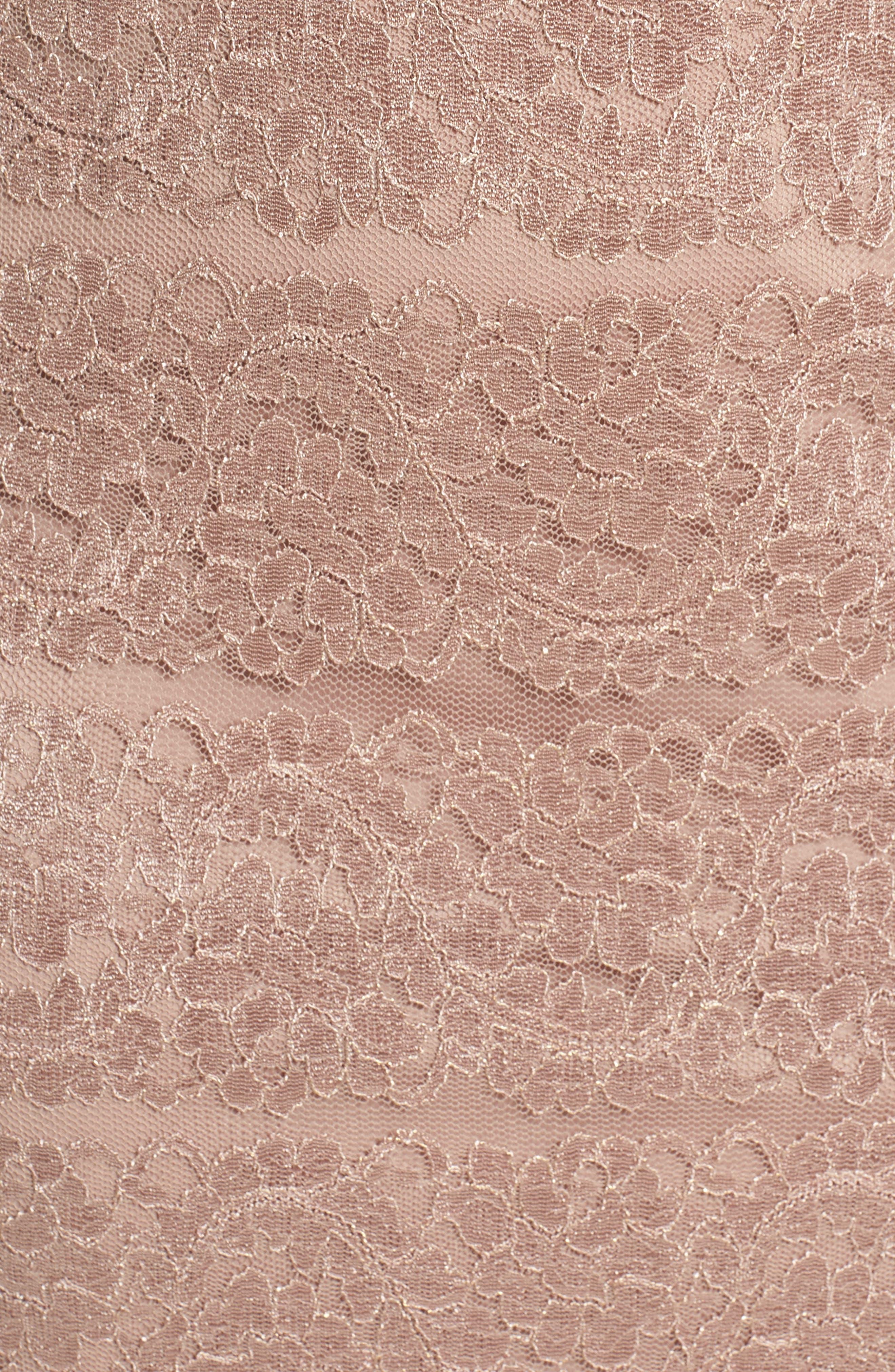 Lace Shift Dress,                             Alternate thumbnail 5, color,                             Almond