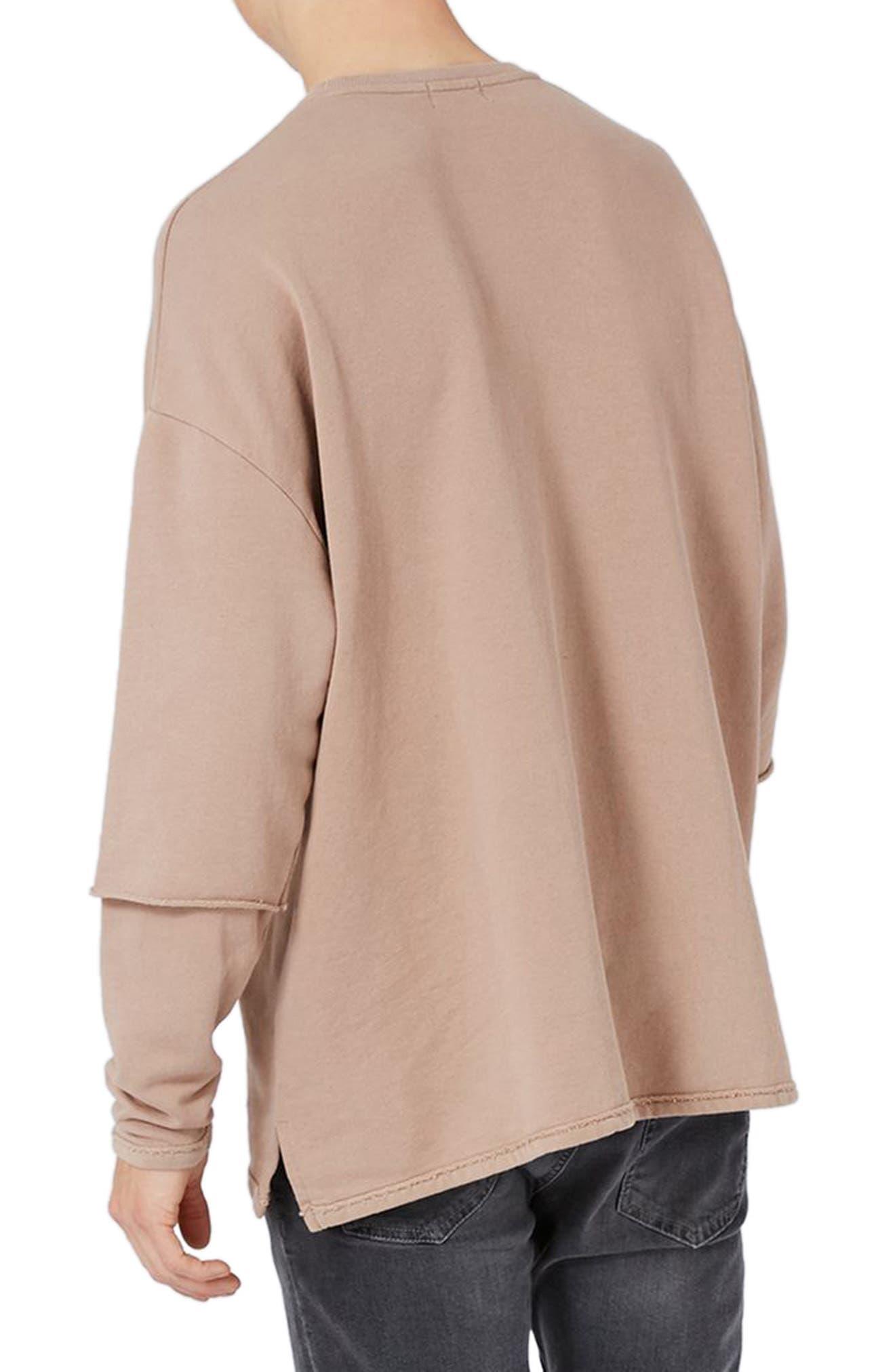 Alternate Image 2  - Topman Layer Sleeve Sweatshirt