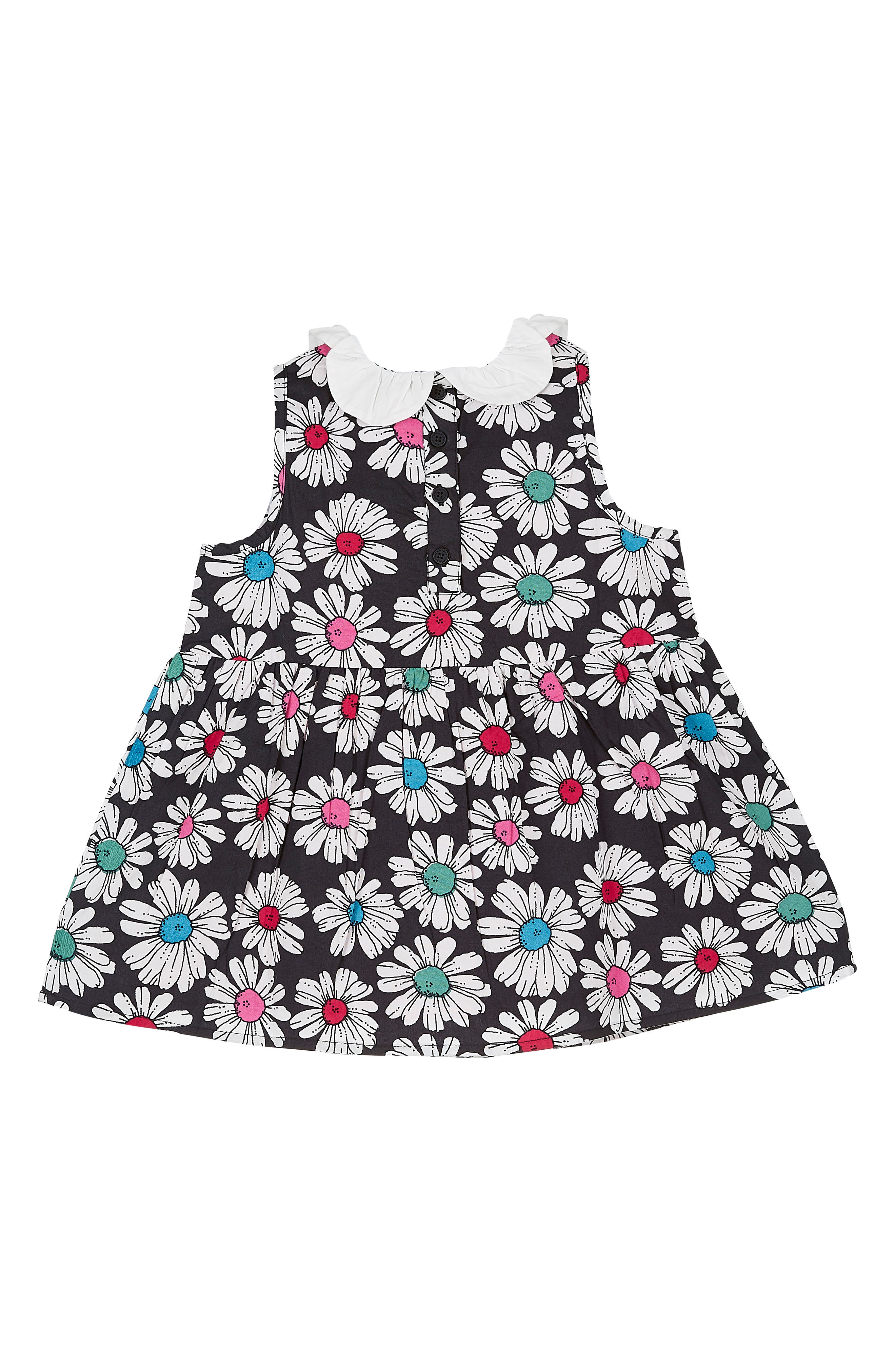 Floral Print Dress,                             Alternate thumbnail 2, color,                             Optical Daisy