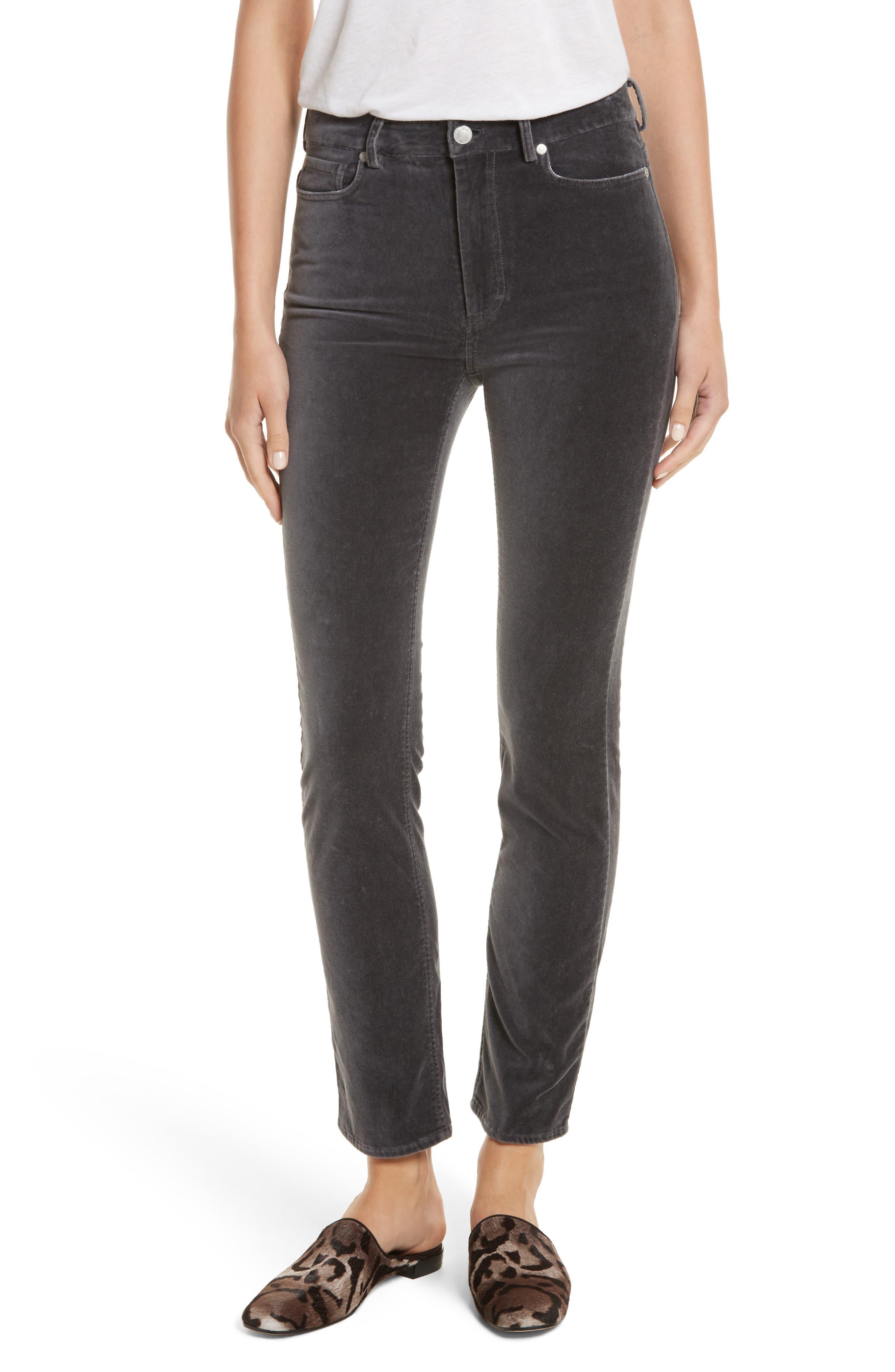 Rebecca Taylor Velvet Clemence Skinny Pants