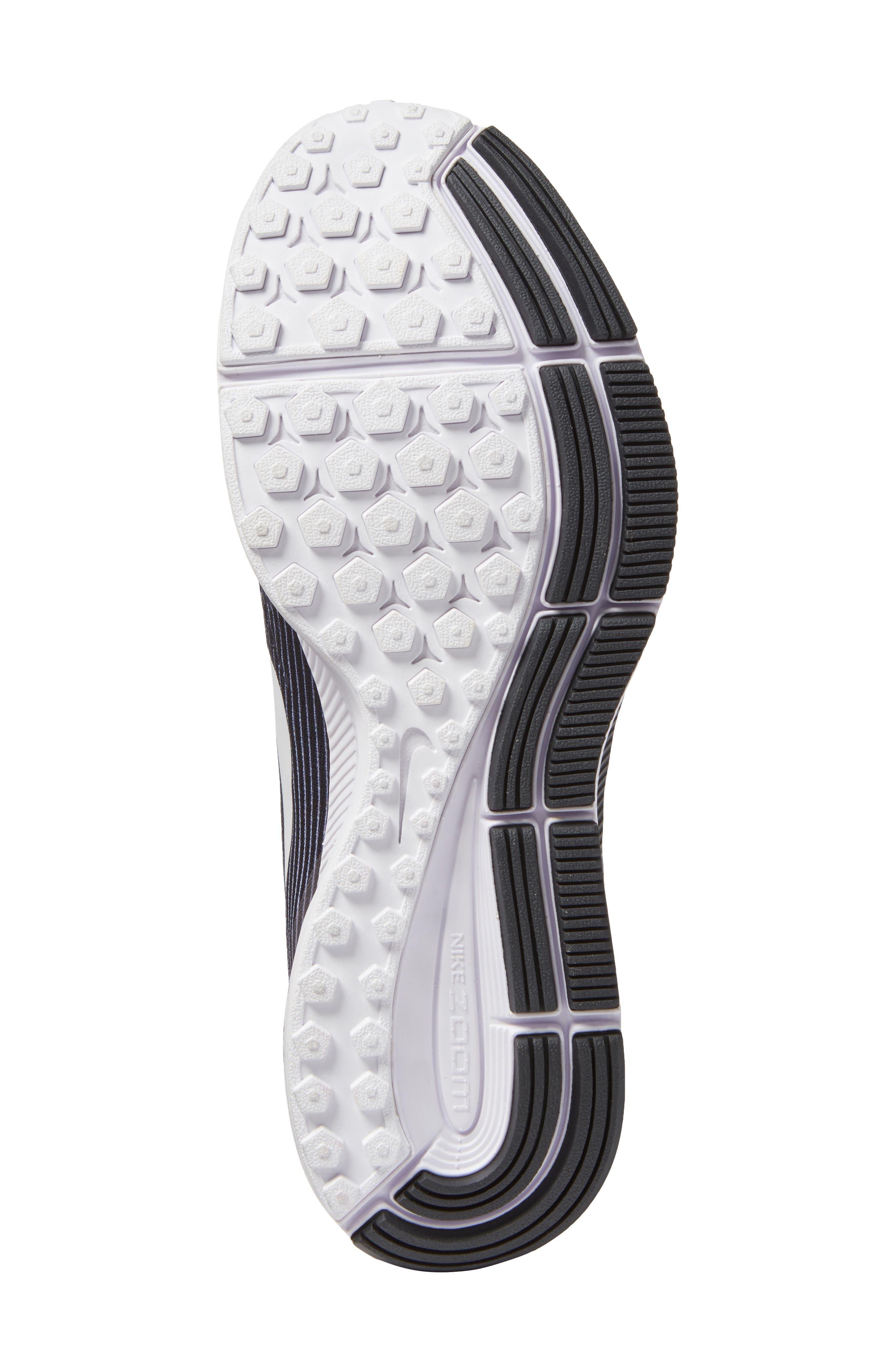 Air Zoom Pegasus 34 LE Running Shoe,                             Alternate thumbnail 7, color,                             White/ White/ Black