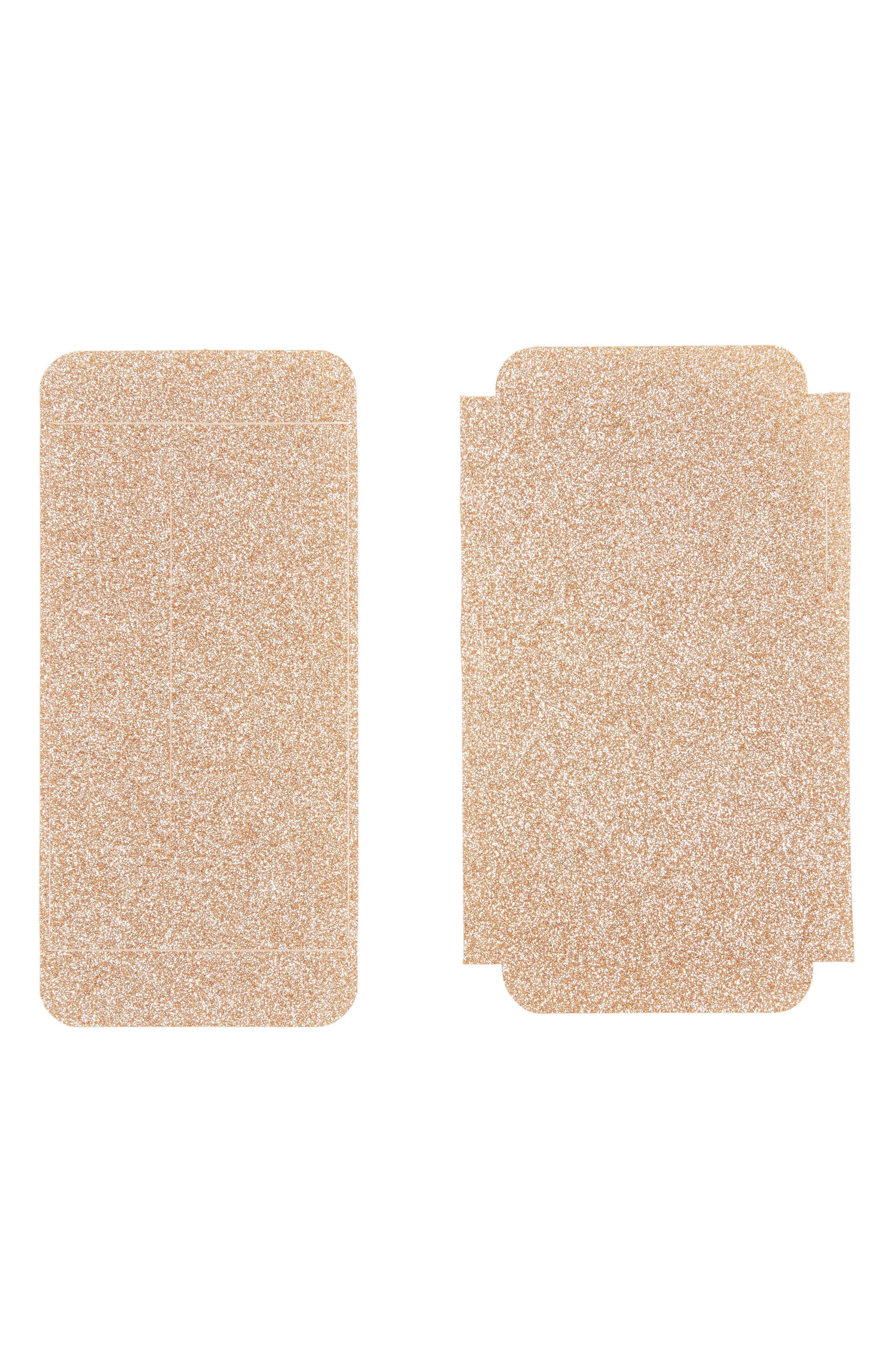 Main Image - Velvet Caviar Gold Glitter iPhone 7 Decal