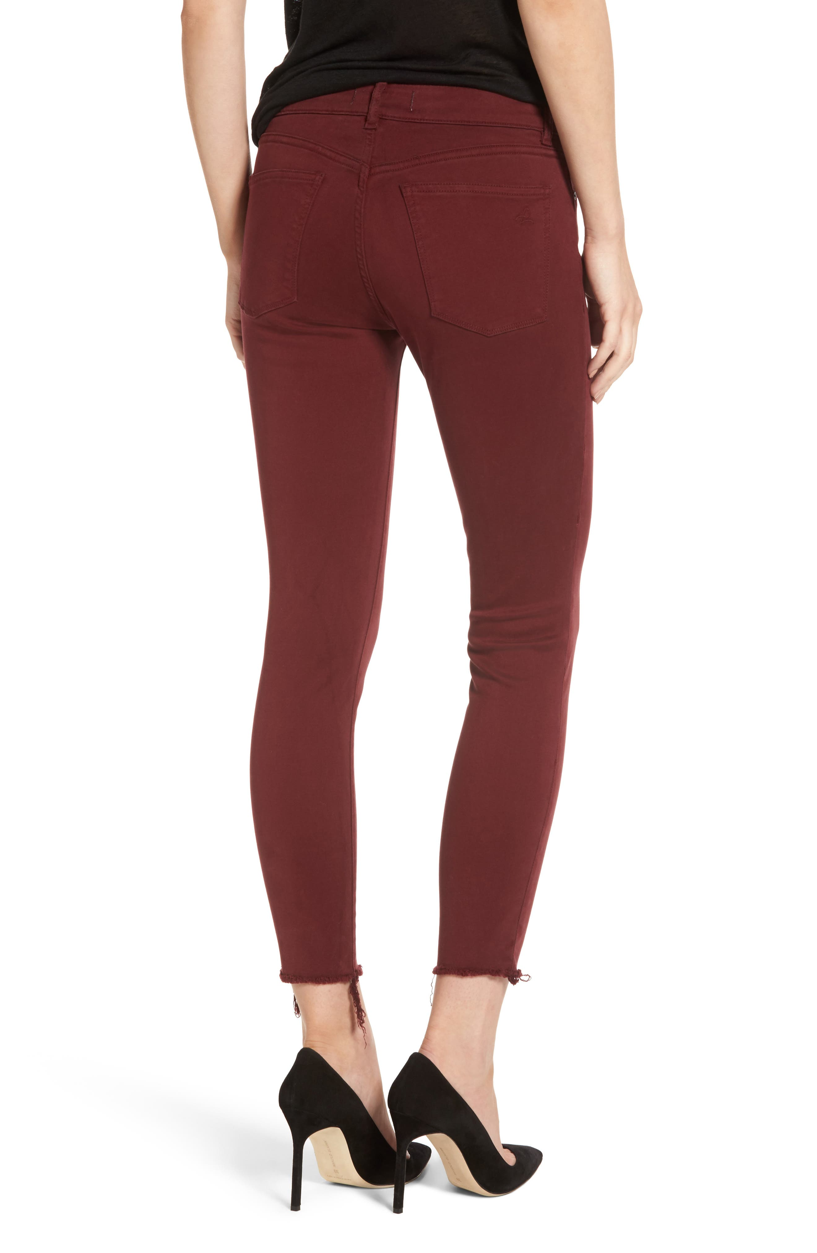 Margaux Instasculpt Ankle Skinny Jeans,                             Alternate thumbnail 2, color,                             Tawny Port