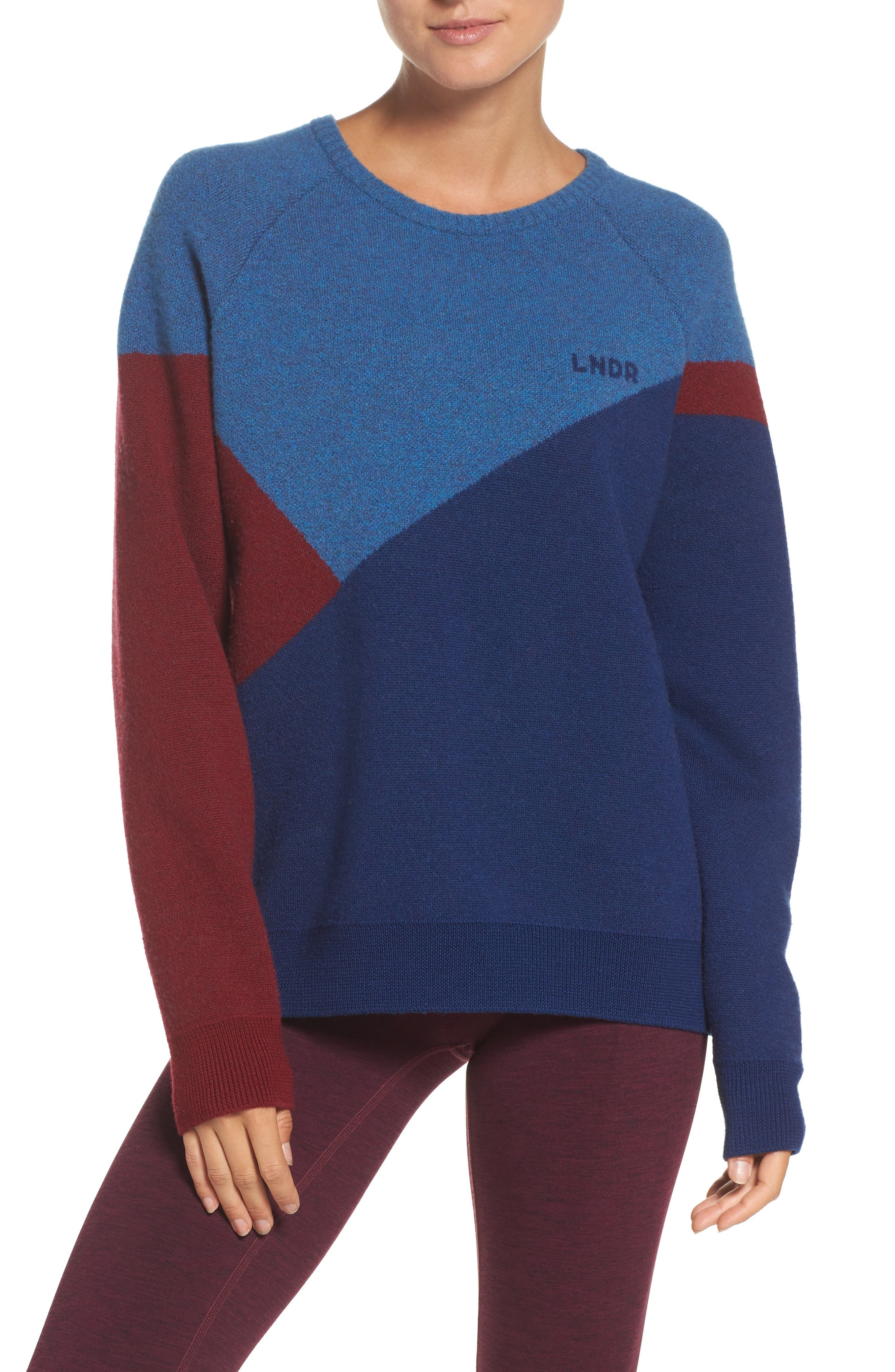 Winter Waterboy Sweater,                         Main,                         color, Burgundy