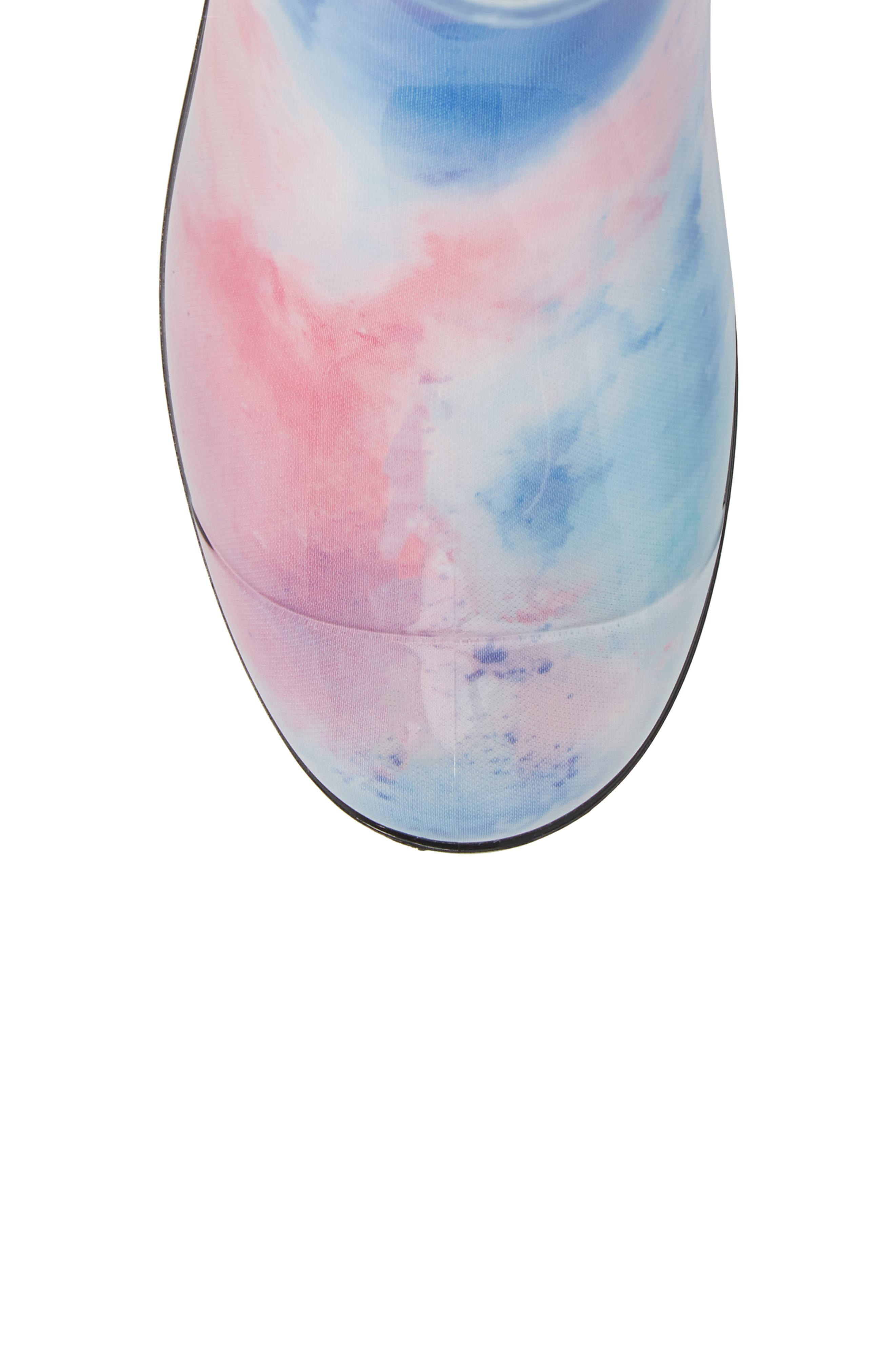 Sienna Watercolor Waterproof Rain Boot,                             Alternate thumbnail 5, color,                             Wild Rose/ Waterfall