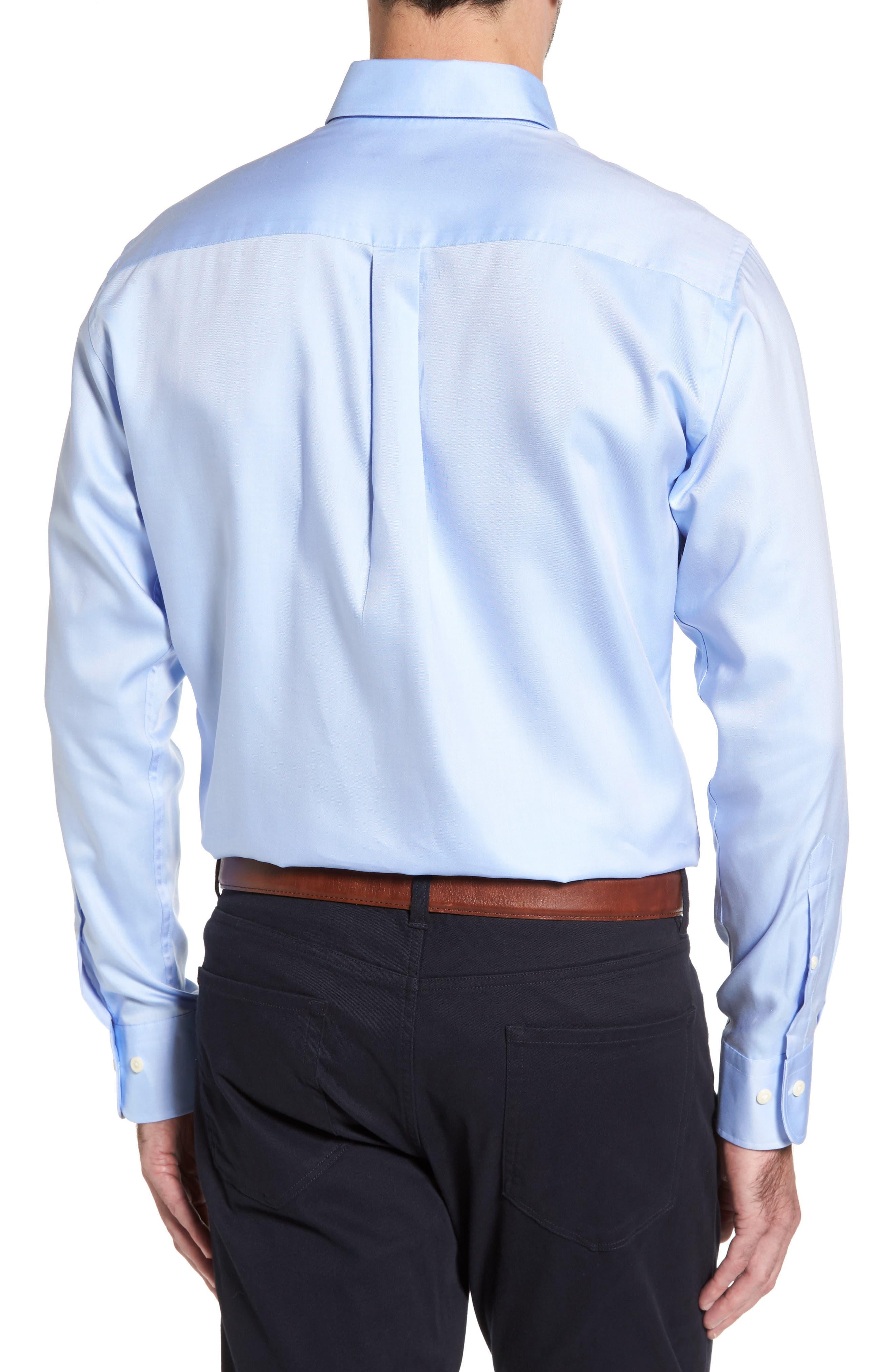 Alternate Image 2  - Peter Millar Crown Soft Pinpoint Regular Fit Sport Shirt