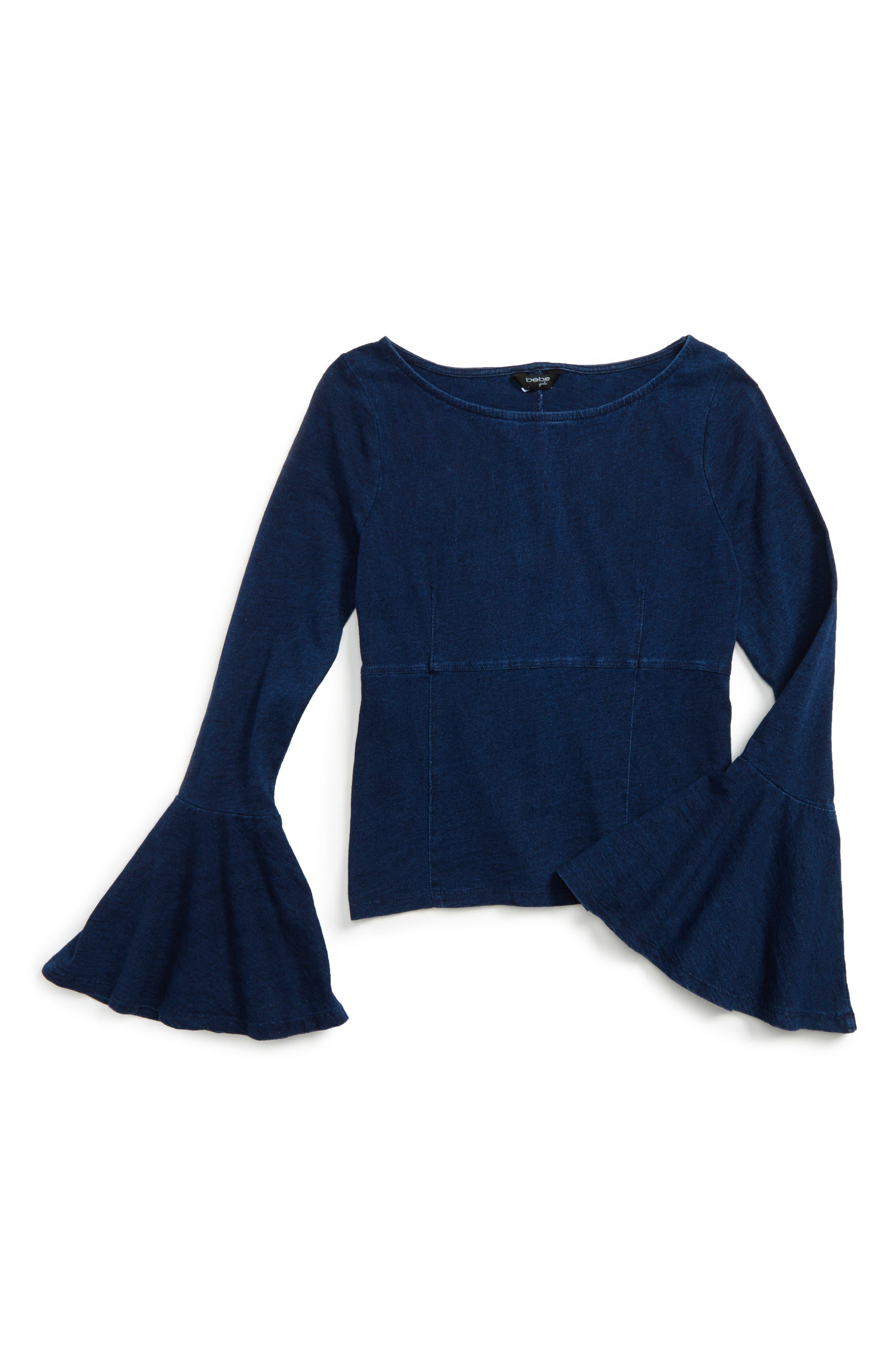BEBE Bell Sleeve Knit Top