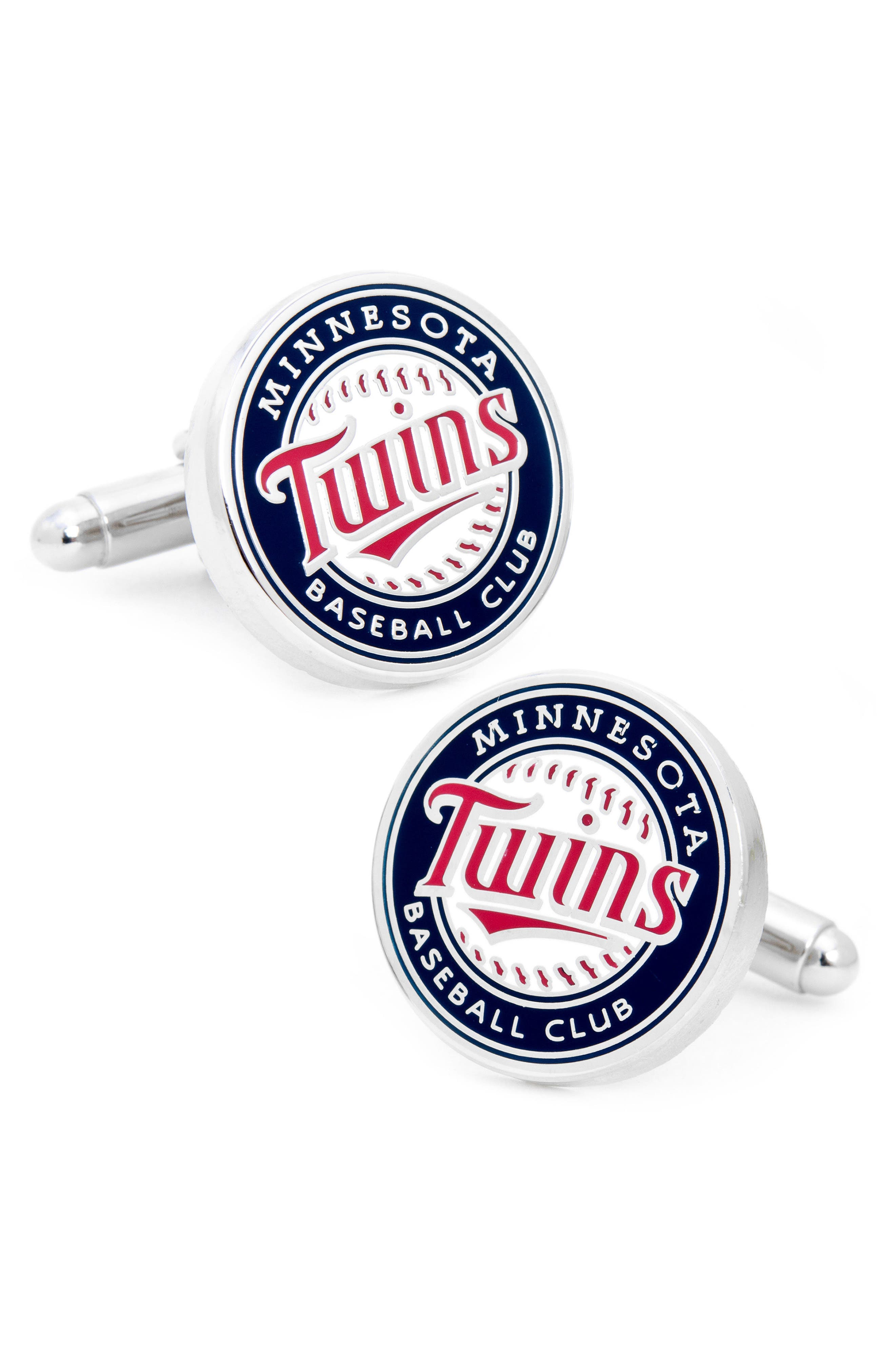 Minnesota Twins Cuff Links,                         Main,                         color, Blue/ Red/ White