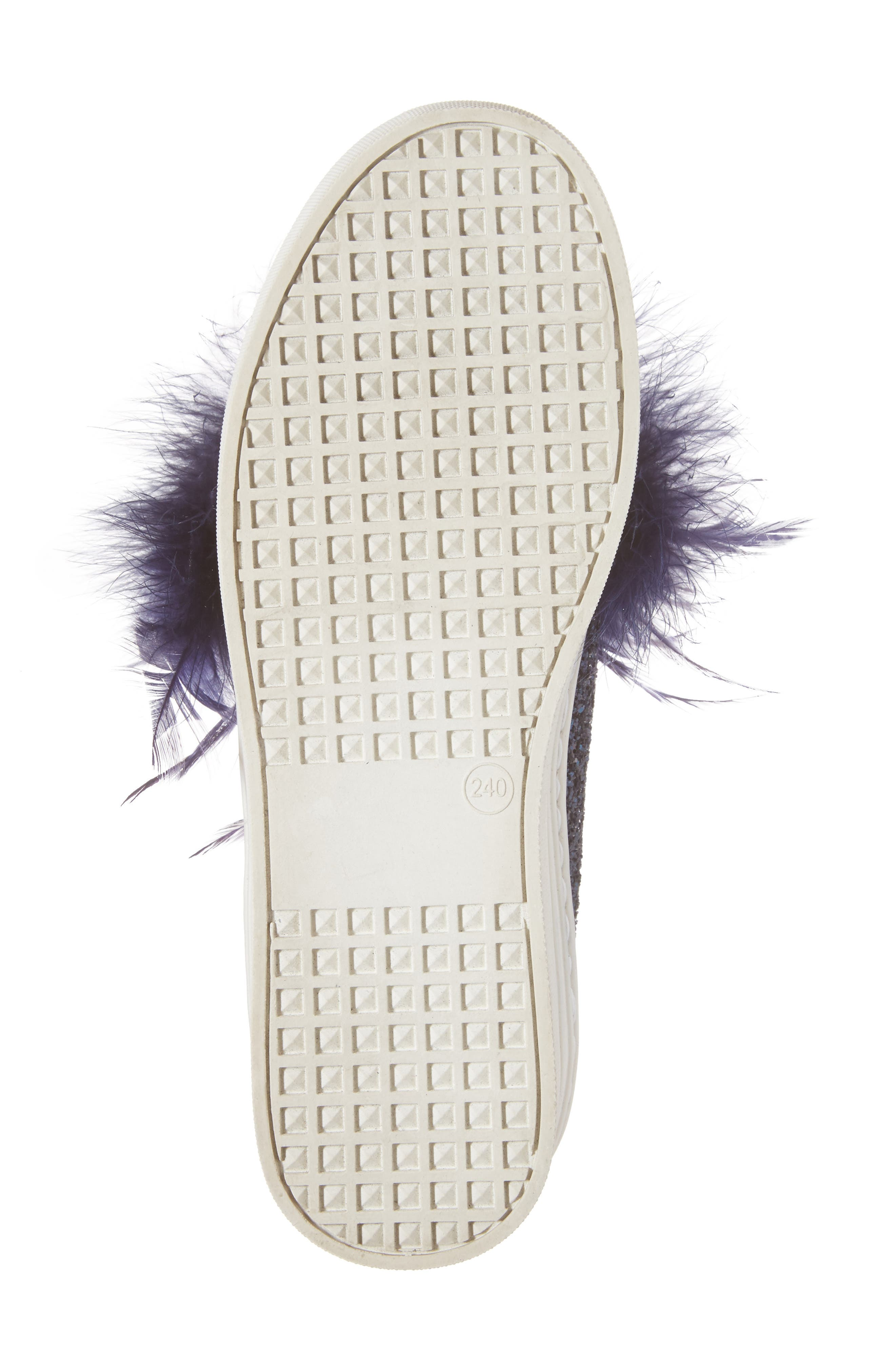 Mia Feather Slip-On Sneaker,                             Alternate thumbnail 7, color,                             Navy Feather Navy Glitter