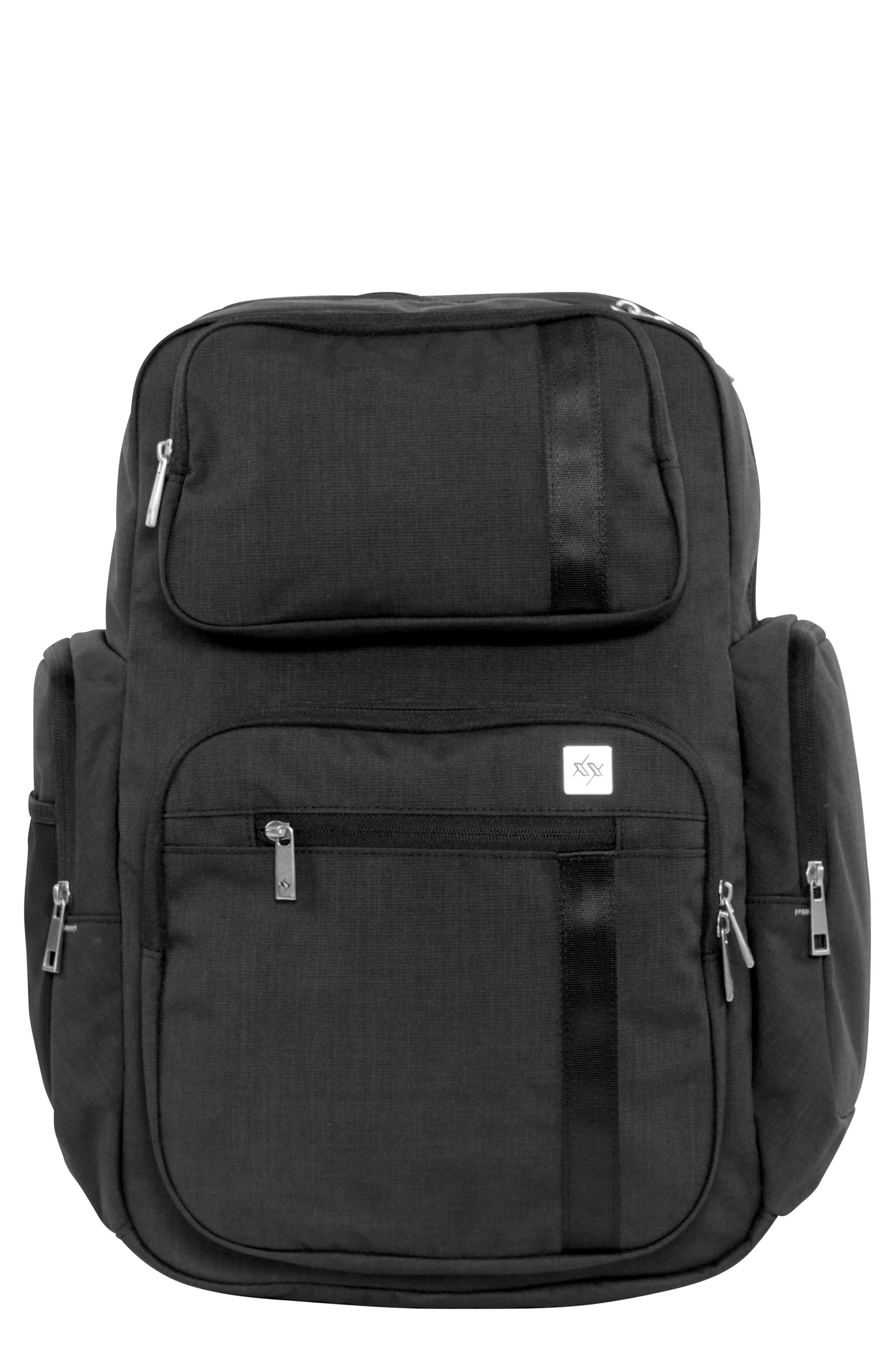 XY Vector Diaper Backpack,                             Main thumbnail 1, color,                             Carbon