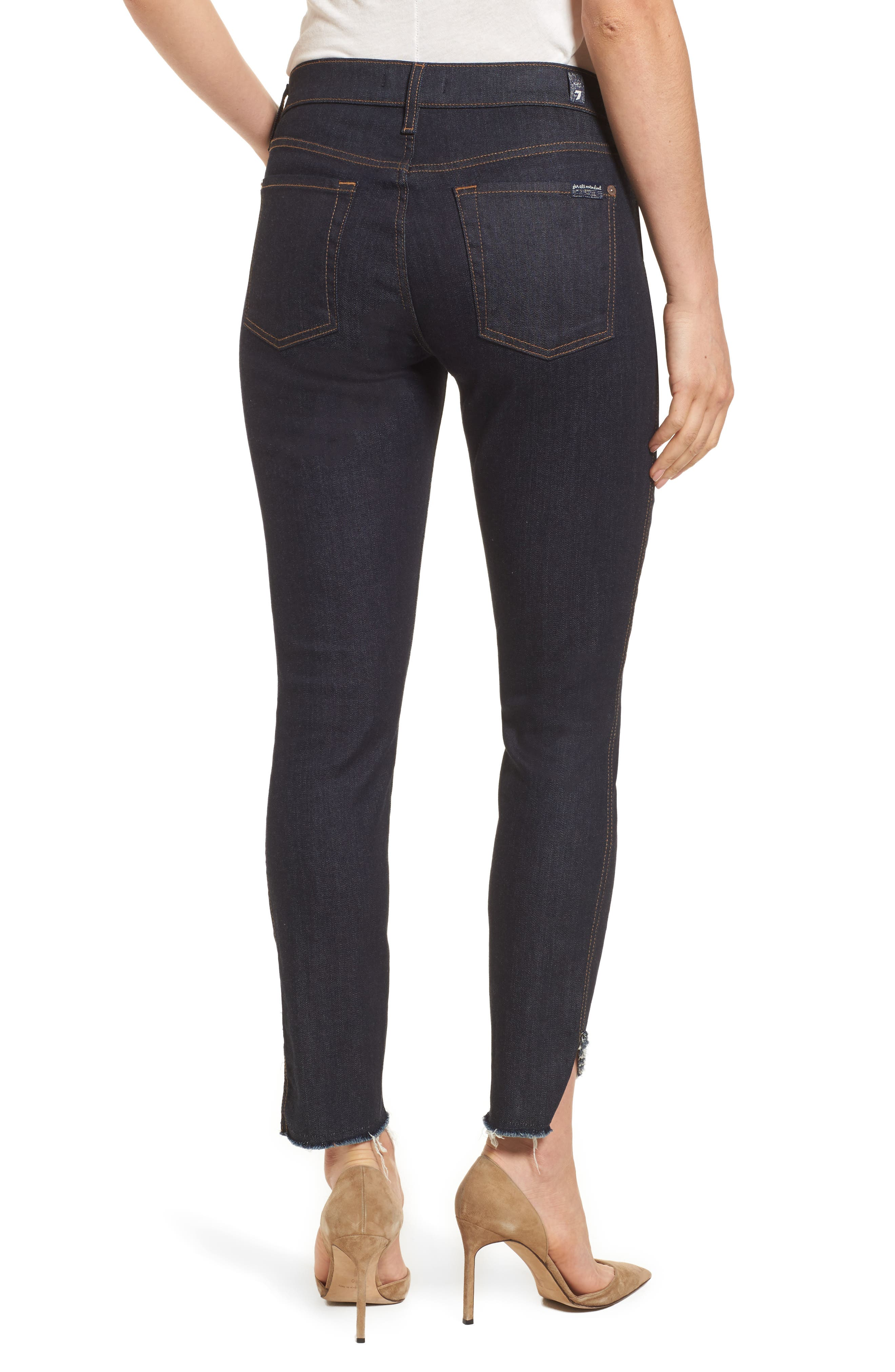 Alternate Image 2  - 7 For All Mankind® Step Hem Ankle Skinny Jeans (New York Rinse)