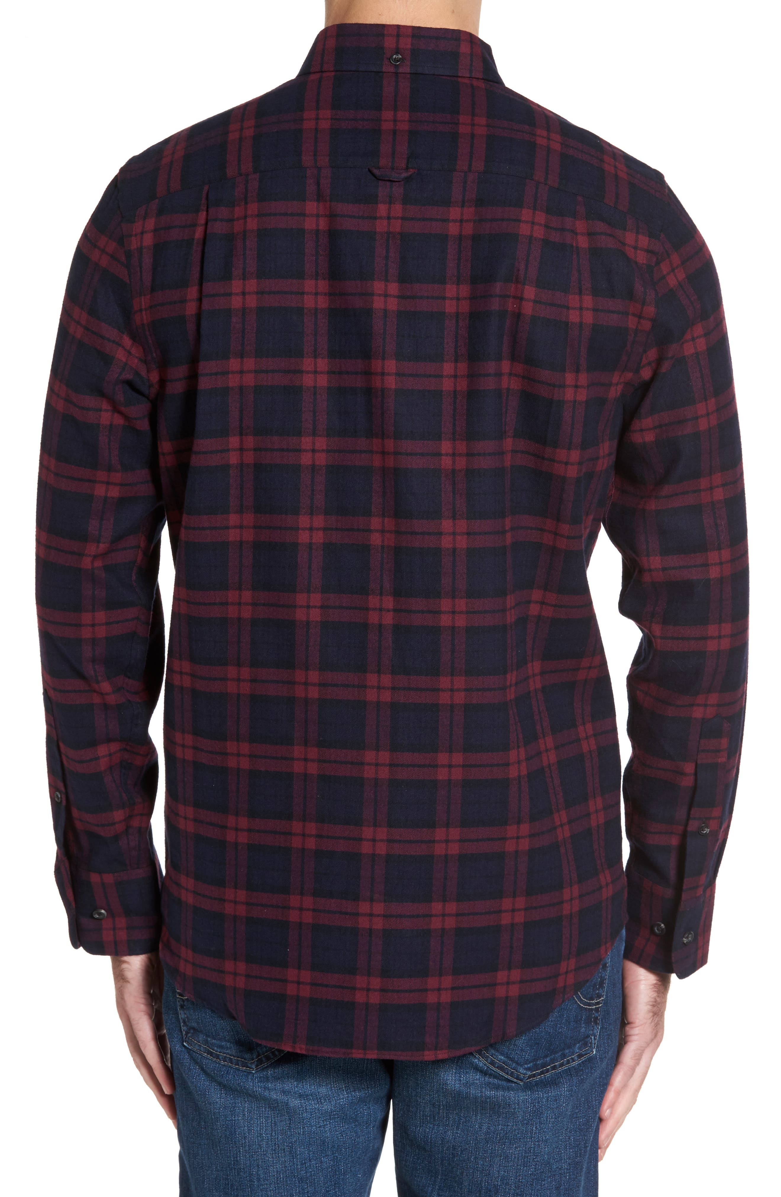 Regular Fit Plaid Sport Shirt,                             Alternate thumbnail 2, color,                             Red Chili Plaid Flannel