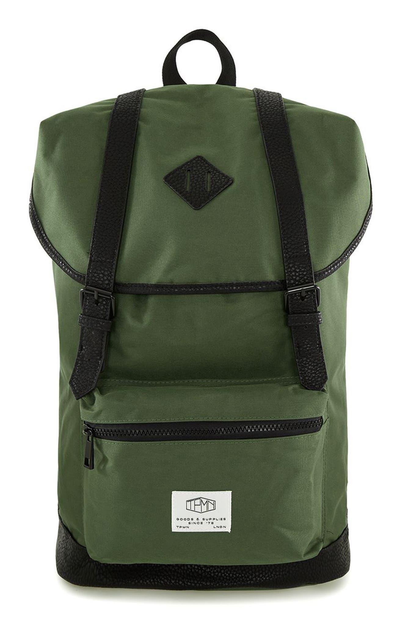 Alternate Image 1 Selected - Topman Explorer Flap Top Backpack