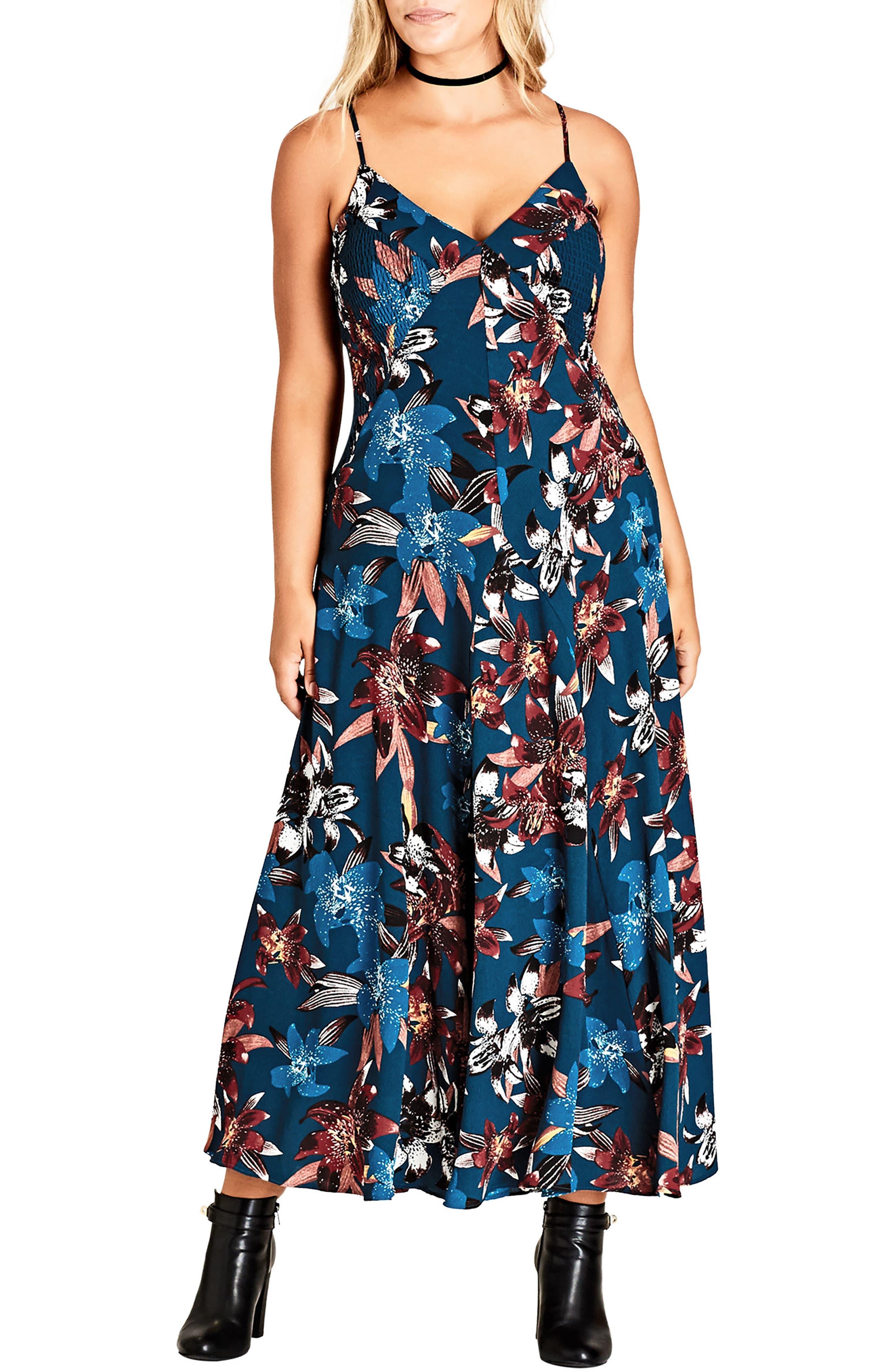 City Chic Fall Lily Maxi Dress (Plus Size)