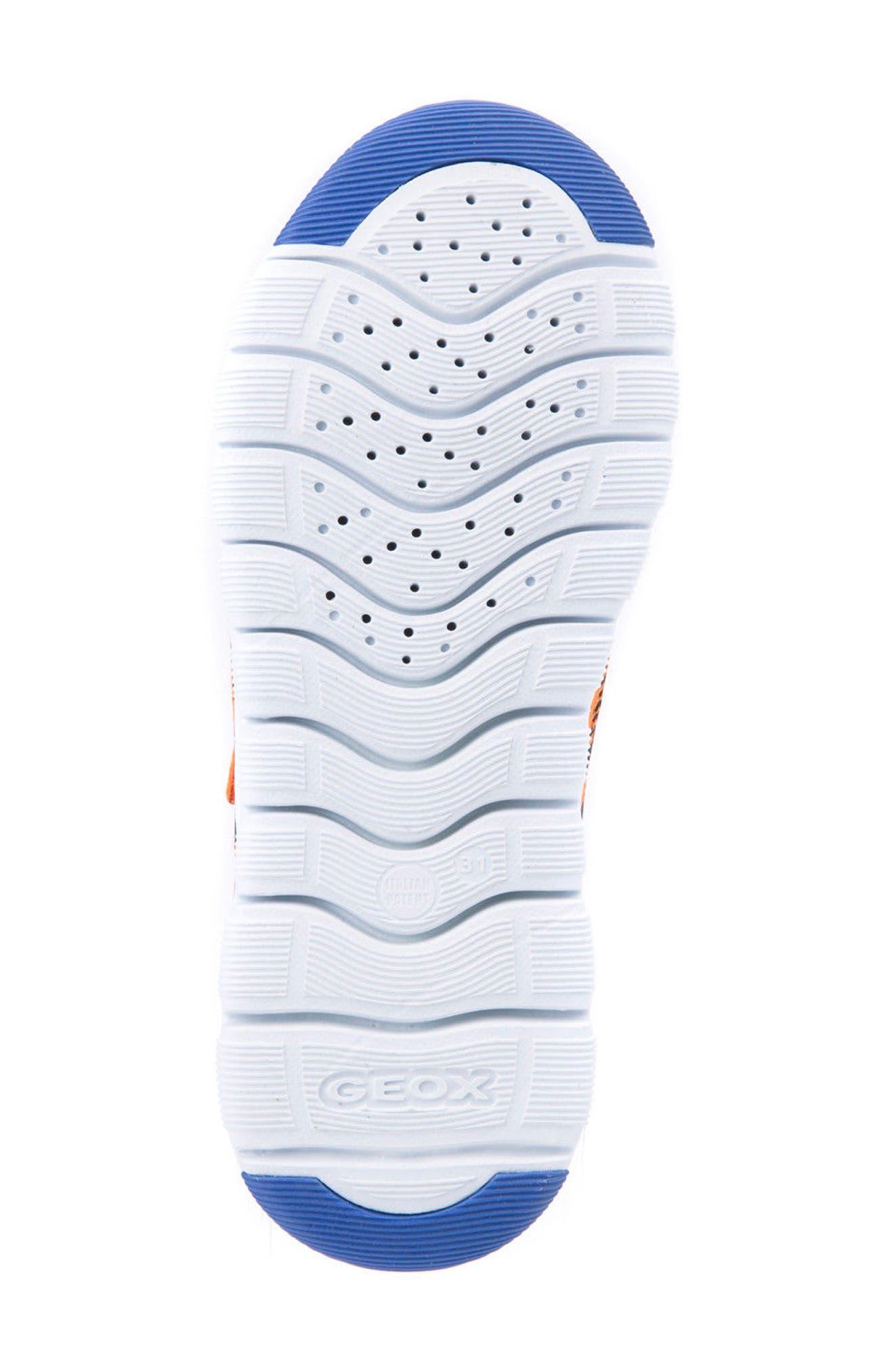 Xunday Low Top Woven Sneaker,                             Alternate thumbnail 6, color,                             Orange/ Royal