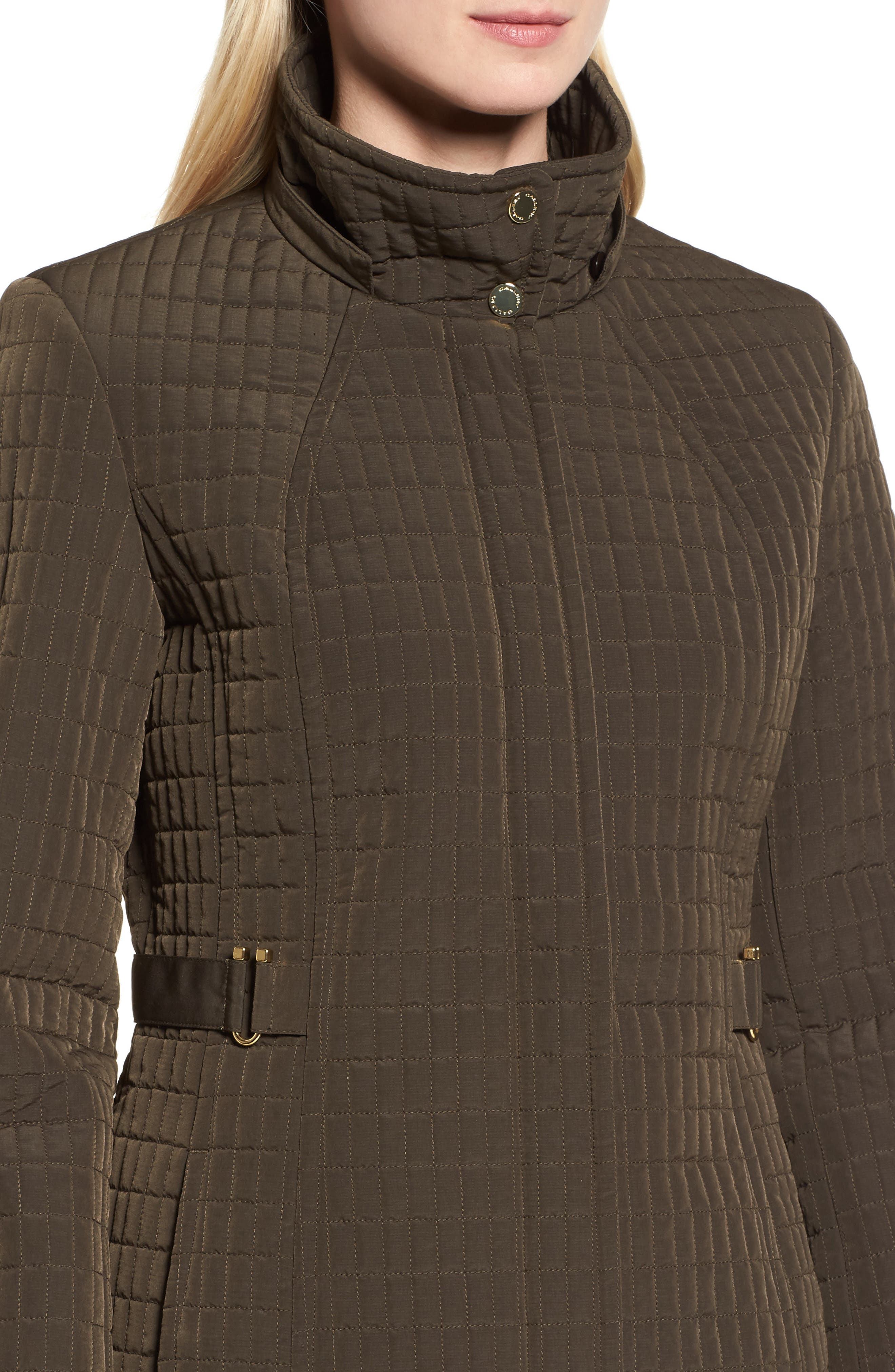 Quilted Jacket,                             Alternate thumbnail 4, color,                             Fatigue