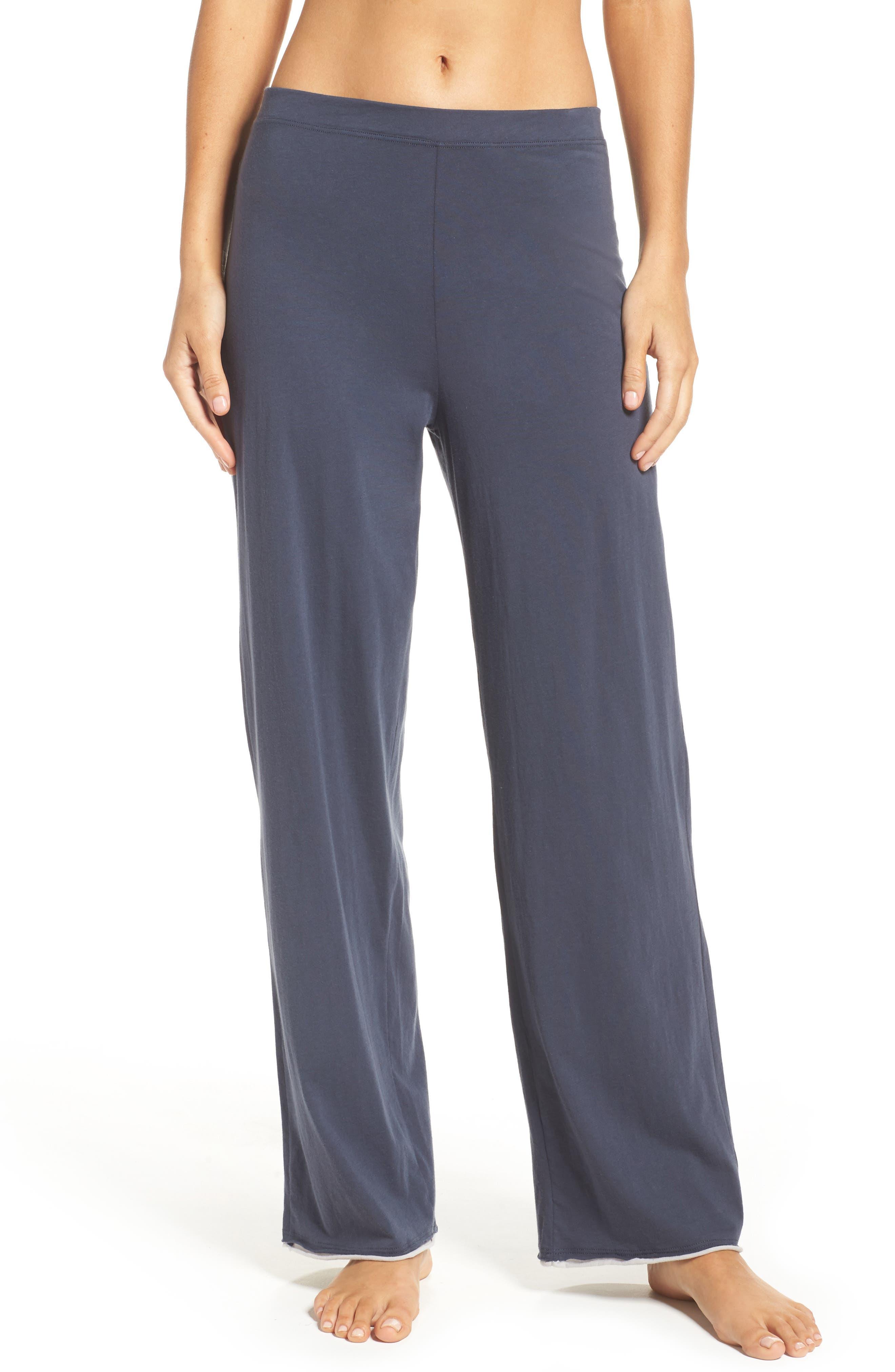 Etta Pima Cotton Pants,                         Main,                         color, Anchor Blue Cloud