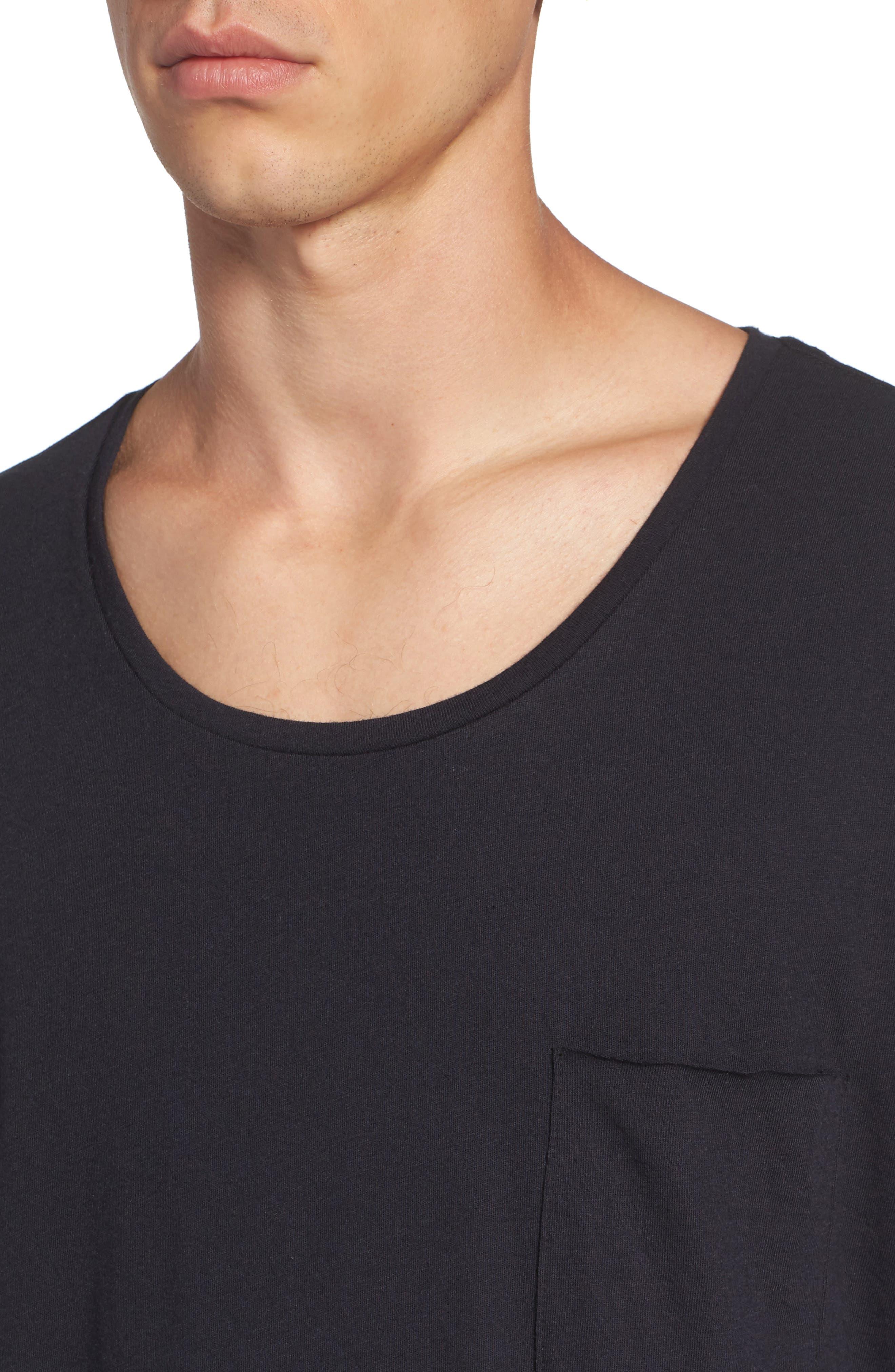 Shirttail T-Shirt,                             Alternate thumbnail 4, color,                             Black Rock