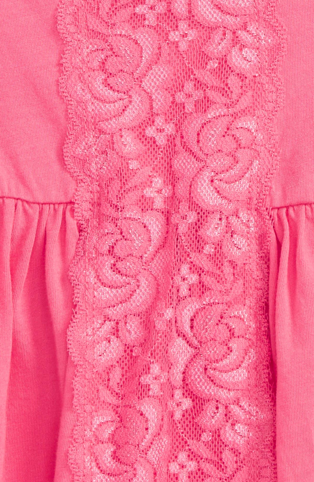 Alternate Image 2  - Splendid Lace Panel Top (Baby Girls)