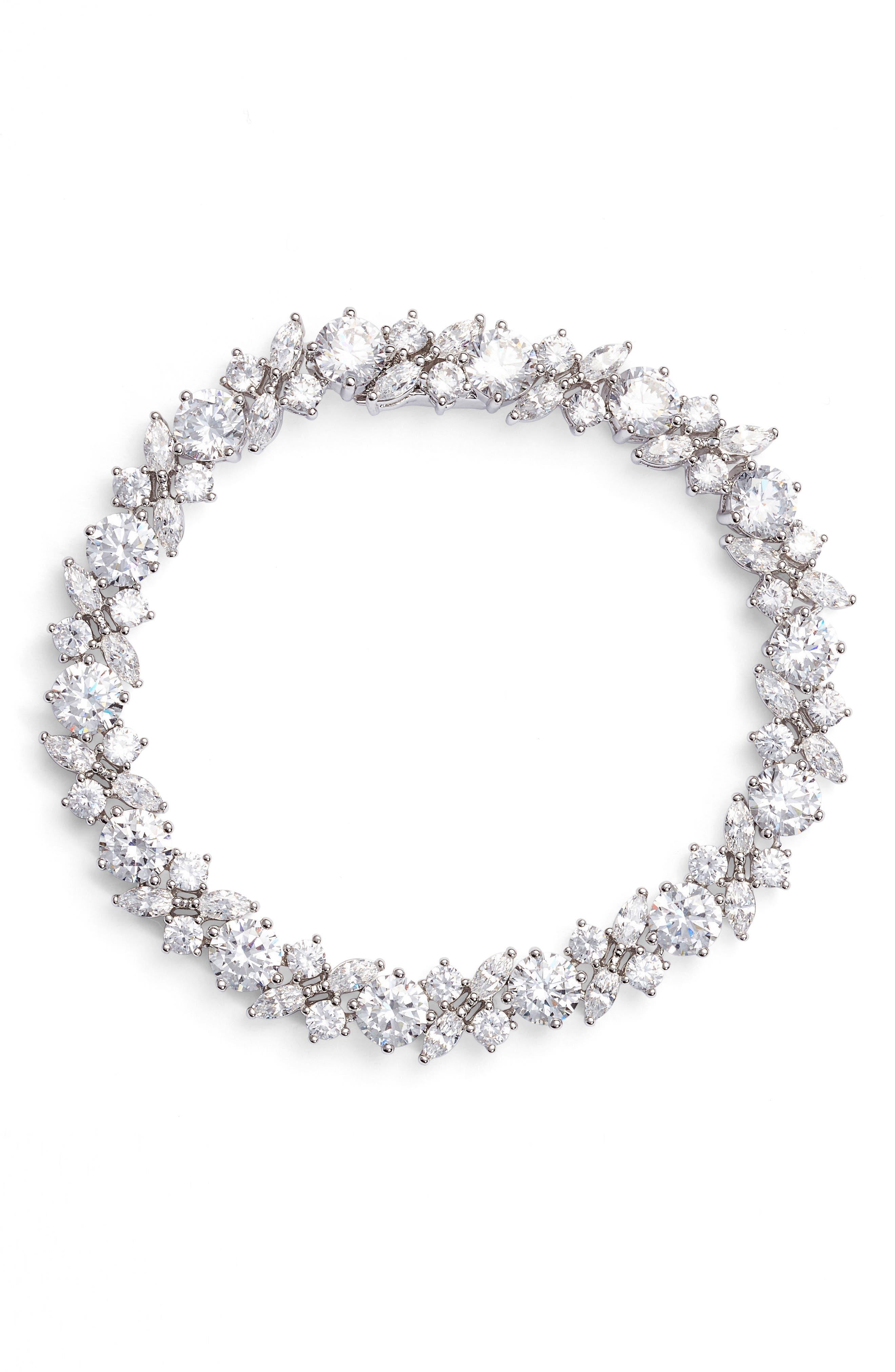 Nadri Cluster Cubic Zirconia Bracelet