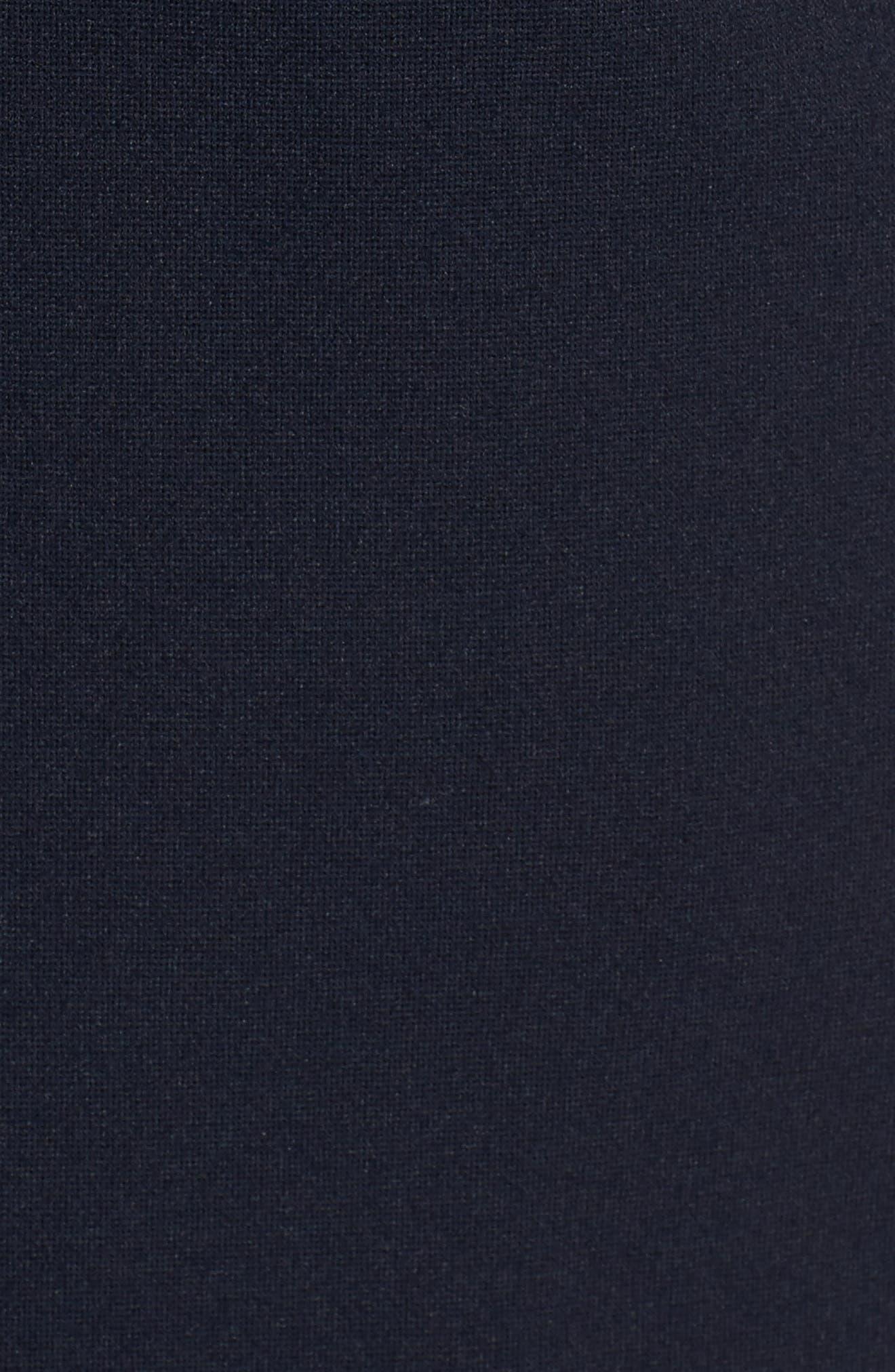 One-Button Crop Blazer,                             Alternate thumbnail 5, color,                             Navy Night