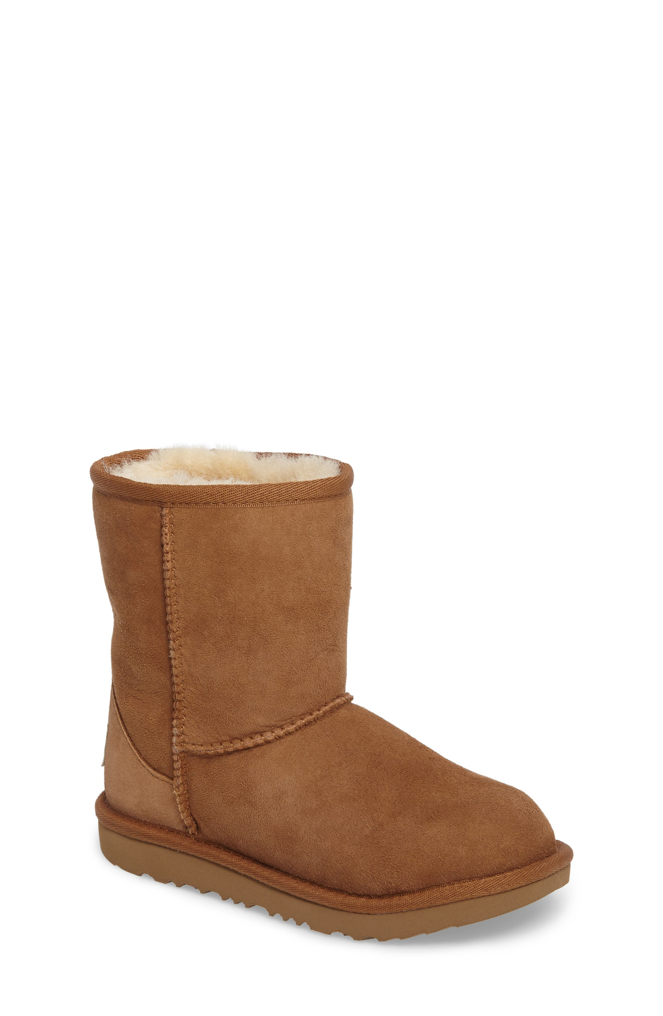 Classic II Water Resistant Genuine Shearling Boot,                         Main,                         color, Chestnut Brown