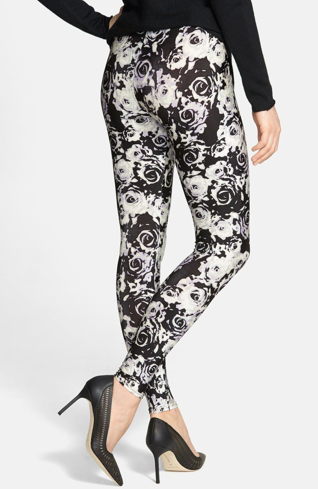 Alternate Image 2  - Nordstrom Floral Leggings