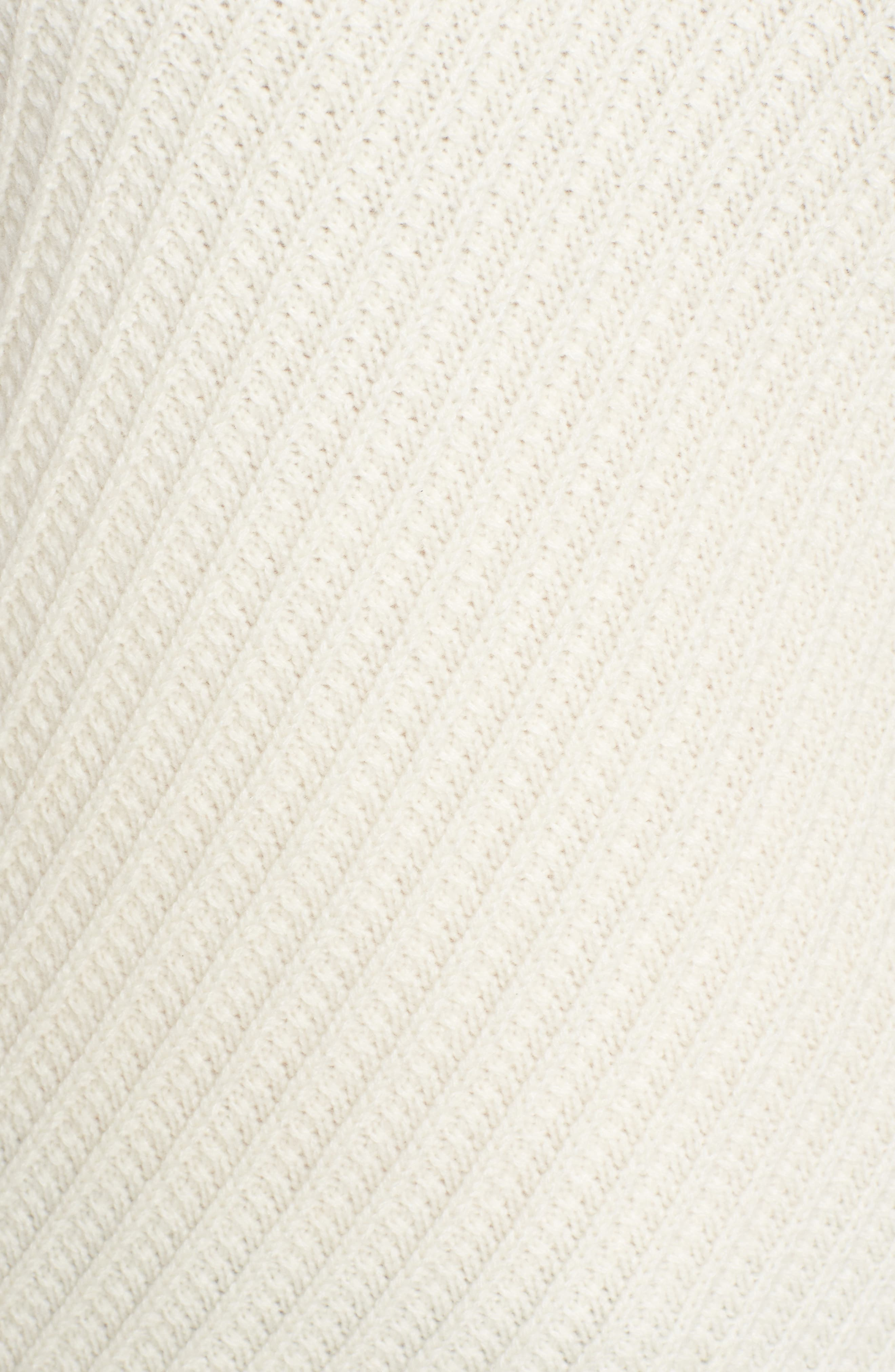 Textured Cashmere Sweater,                             Alternate thumbnail 5, color,                             Ivory Soft